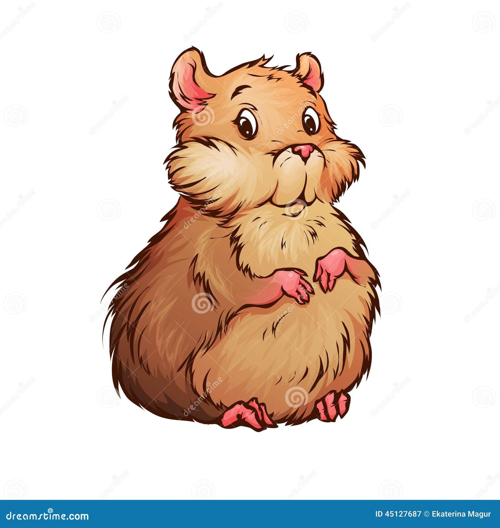 仓鼠的传染媒介例证在动画片样式的