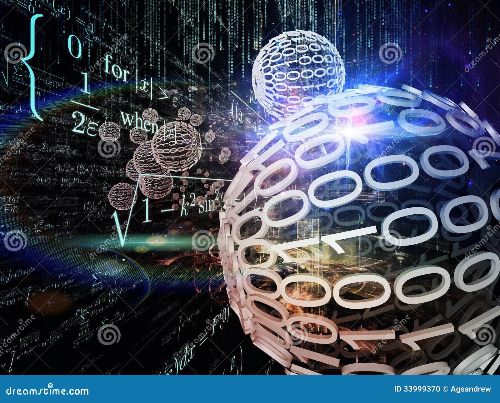 数学公式和设计元素的图表构成在透视起赞美设计作用图片