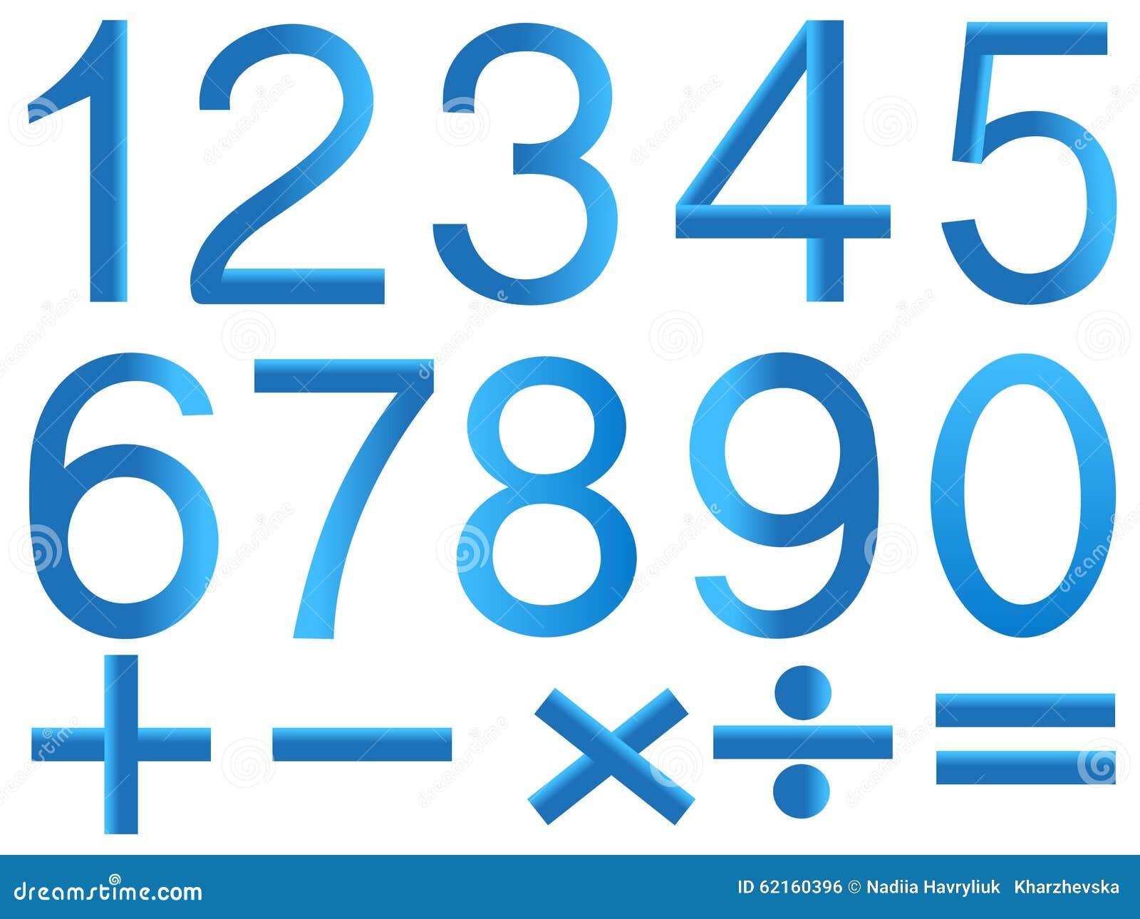 数学的数字和标志在白色背景的.图片
