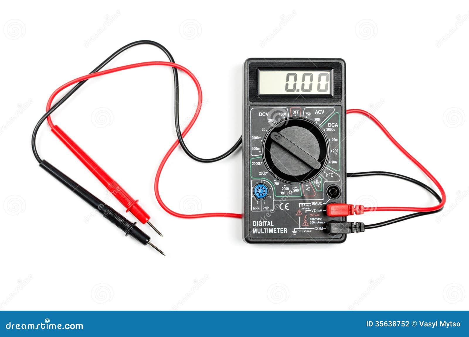 数字式多用电表 图库摄影