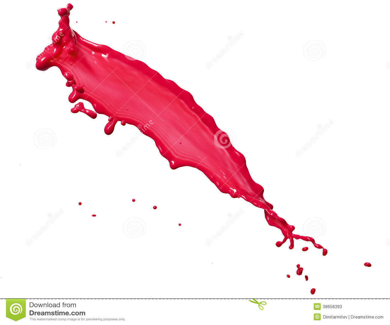 桃红色液体飞溅 38658393