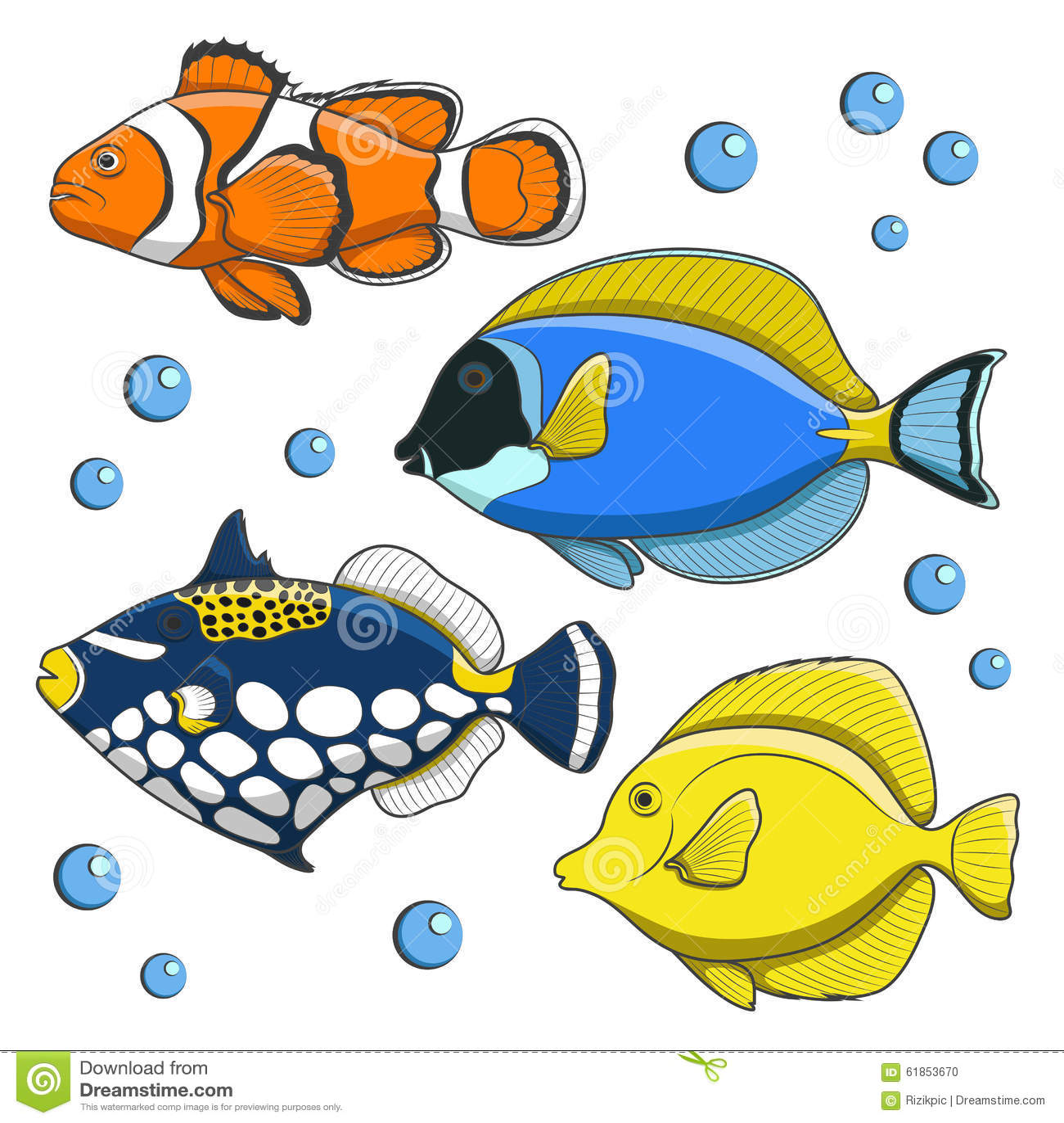 套传染媒介热带鱼 查出图片