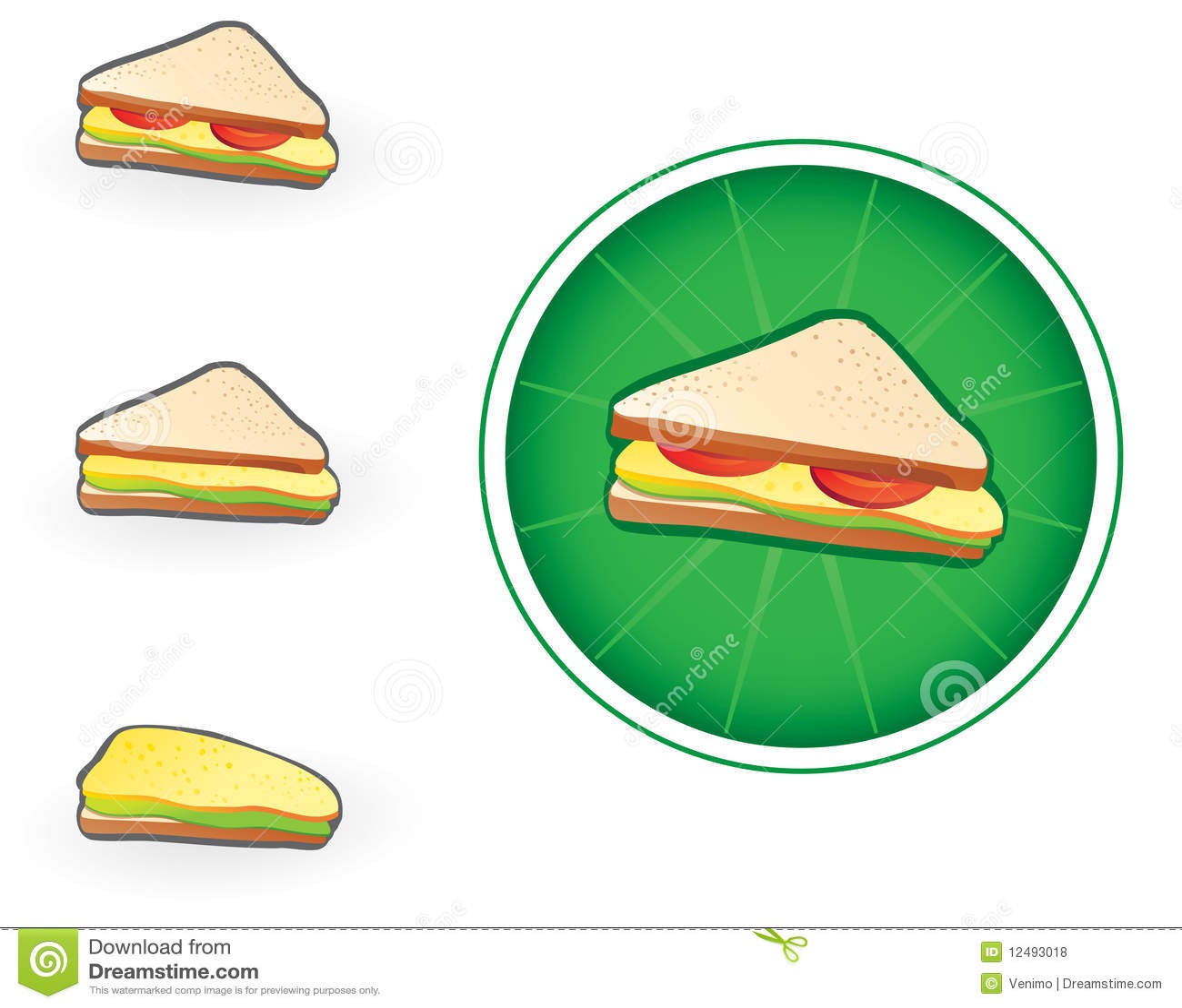 图标三明治图片