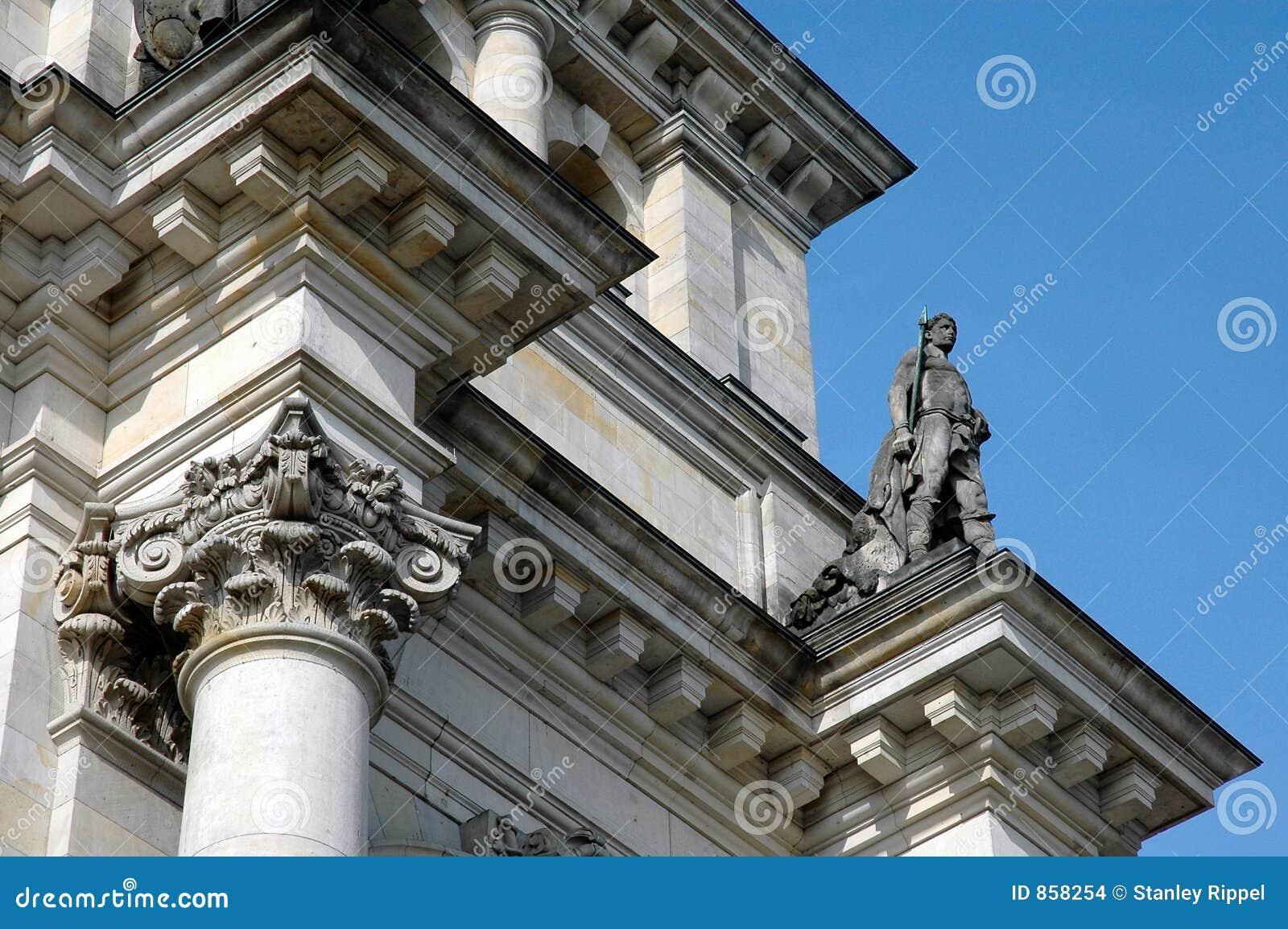 άγαλμα του Βερολίνου Γερμανία reichstag