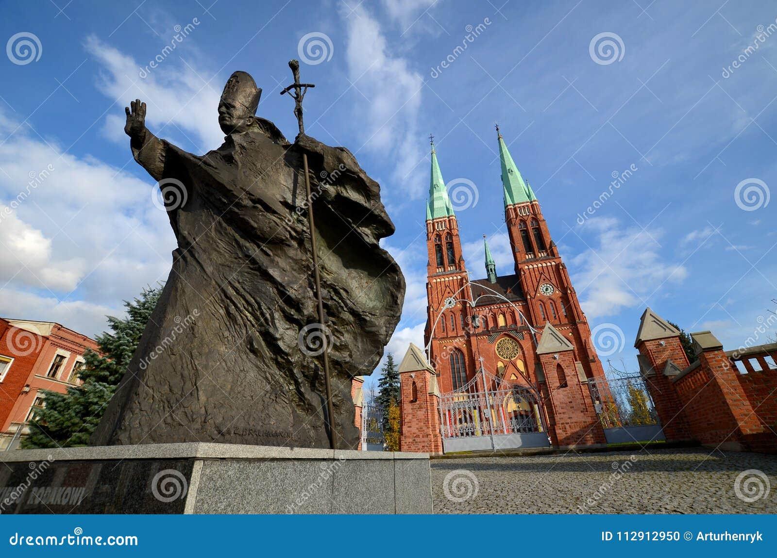 Άγαλμα του Ιωάννης Παύλου IIl Rybnik, Πολωνία