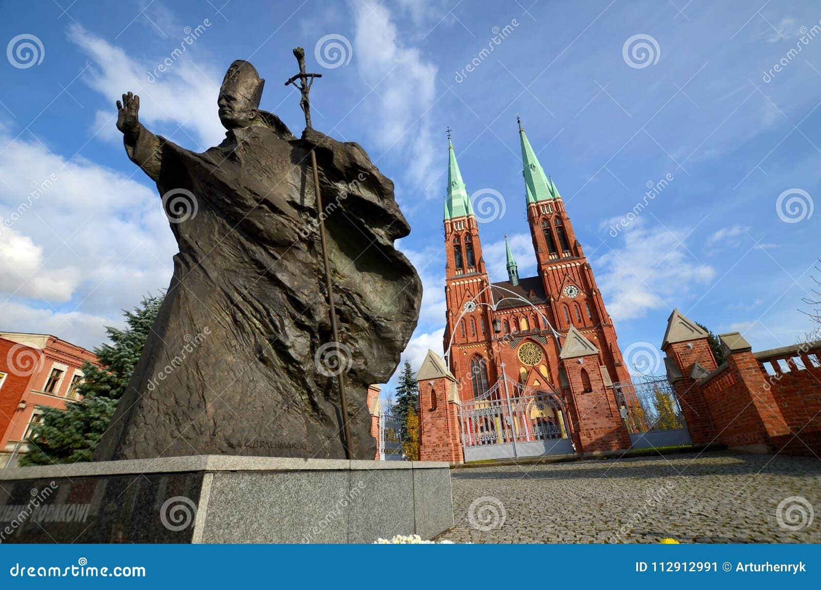 Άγαλμα του John Paul II Rybnik, Πολωνία