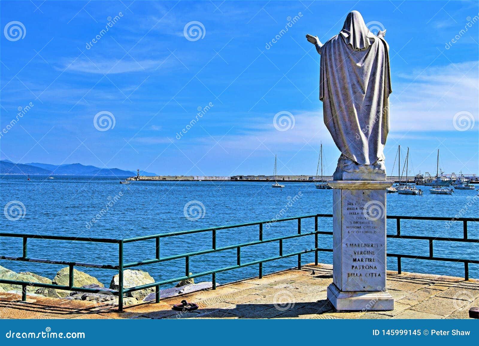 Άγαλμα Santa Margherita, σε Santa Margherita pov 2, Γένοβα, Λιγυρία, Ιταλία