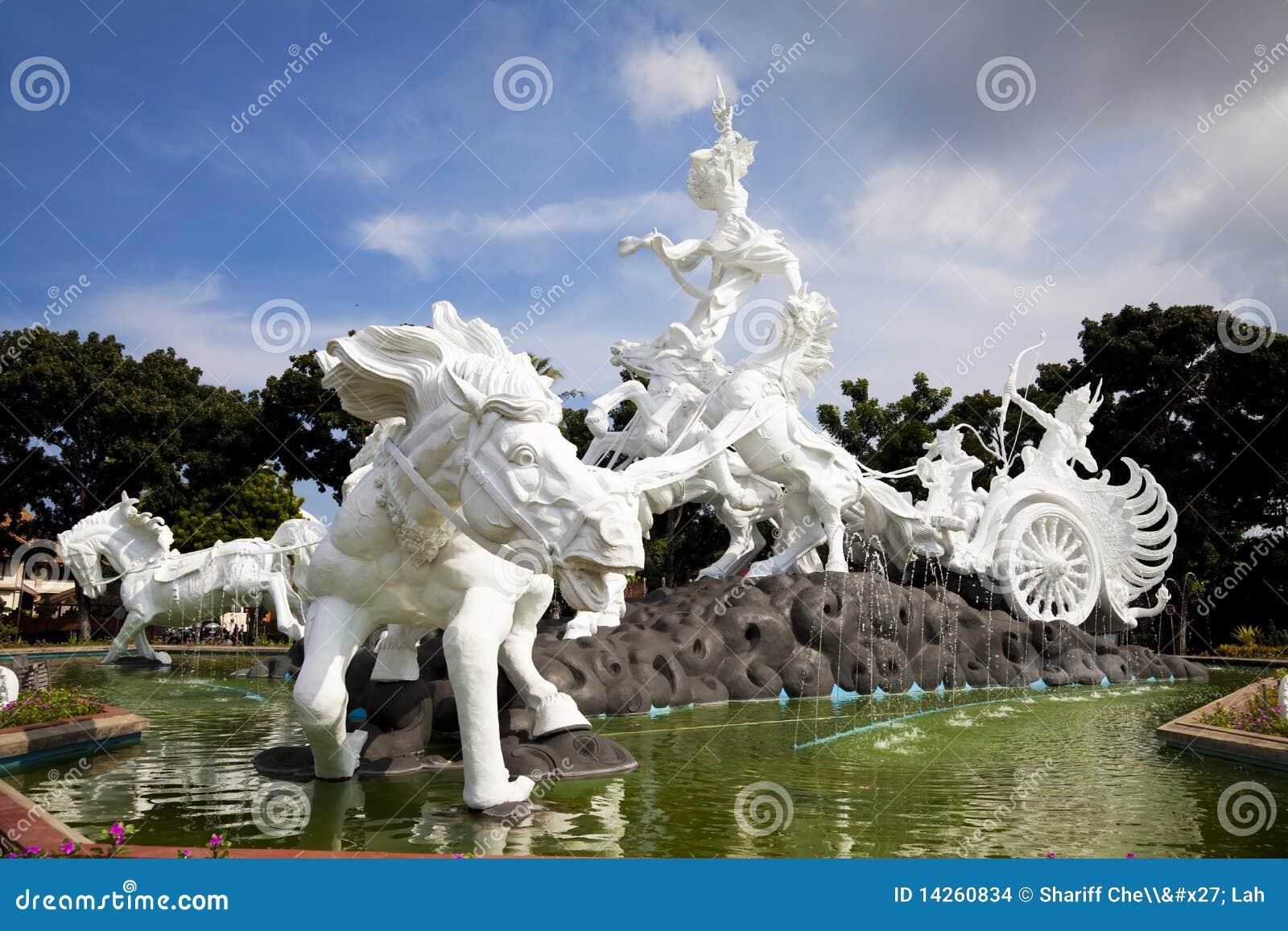 άγαλμα satria της Ινδονησίας gatotkaca