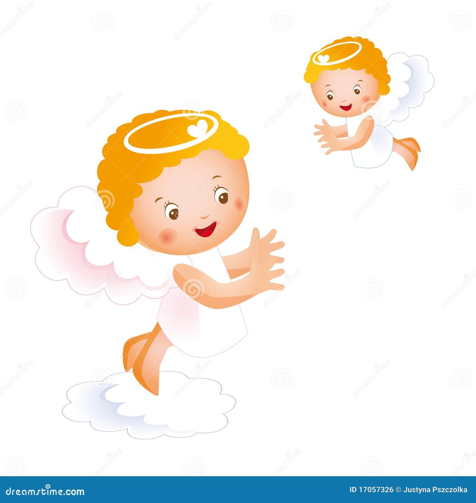 άγγελοι ευτυχή μικρά δύο