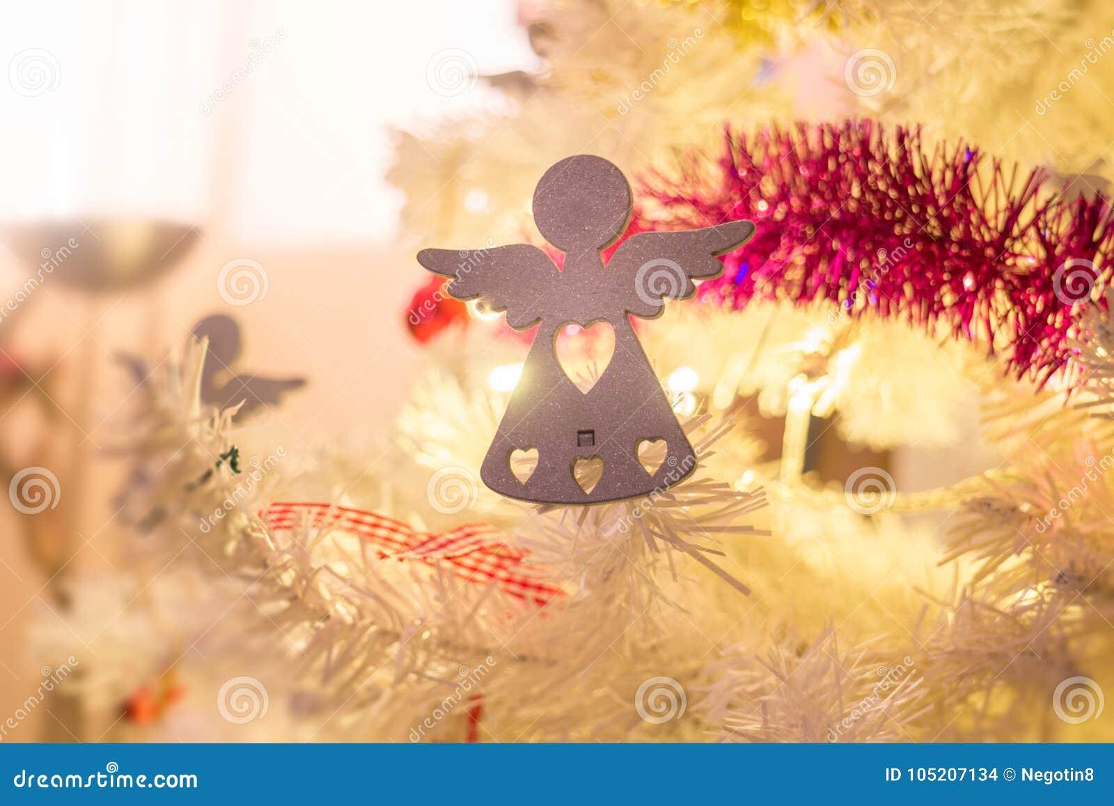Άγγελοι λεπτομερειών διακοσμήσεων Χριστουγέννων