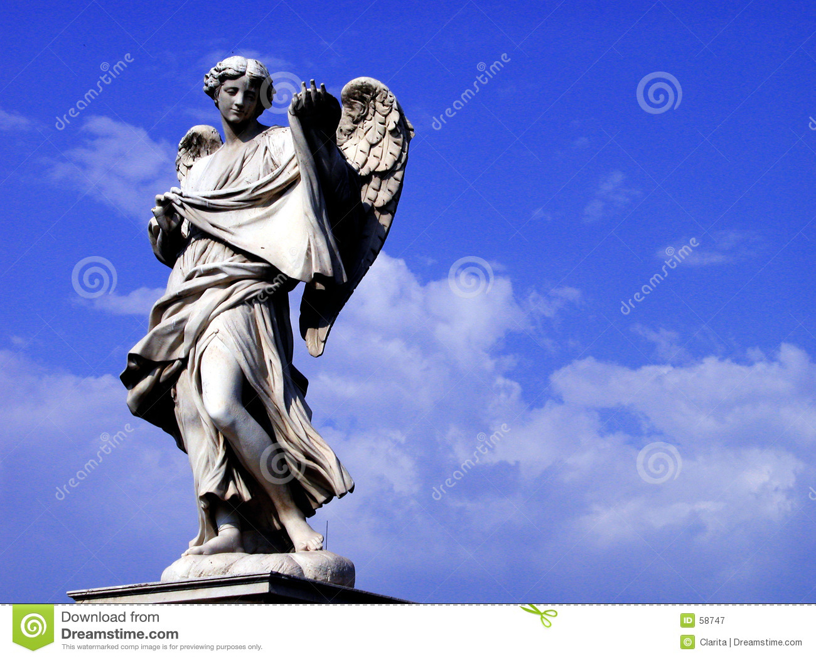 Download άγγελος στοκ εικόνα. εικόνα από γλυπτό, φτερό, άγαλμα, γλυπτά - 58747