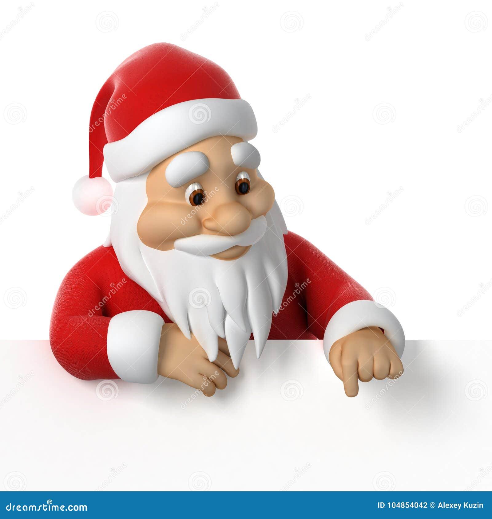 Άγιος Βασίλης που δείχνει κάτω