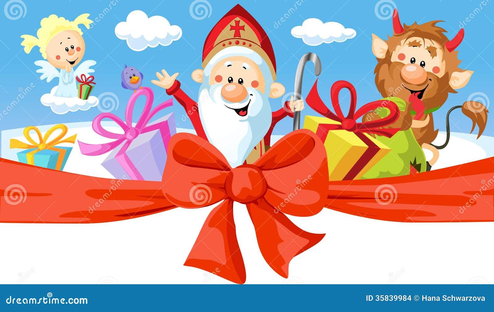 Άγιος Βασίλης, διάβολος και άγγελος