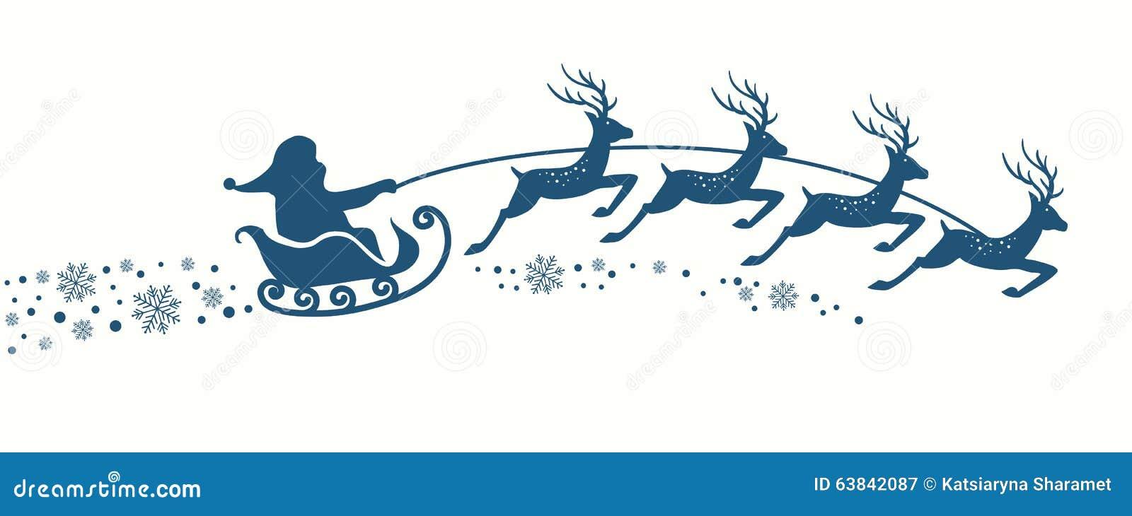 Άγιος Βασίλης με το έλκηθρο ταράνδων