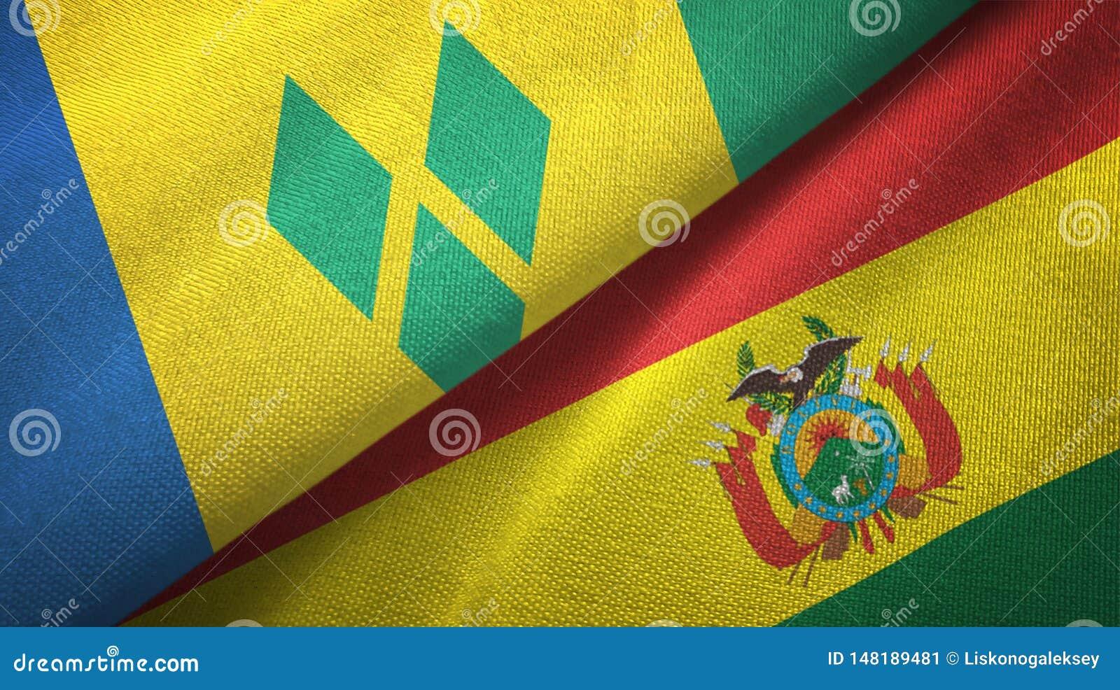 Άγιος Βικέντιος και Γρεναδίνες και Βολιβία δύο σημαίες