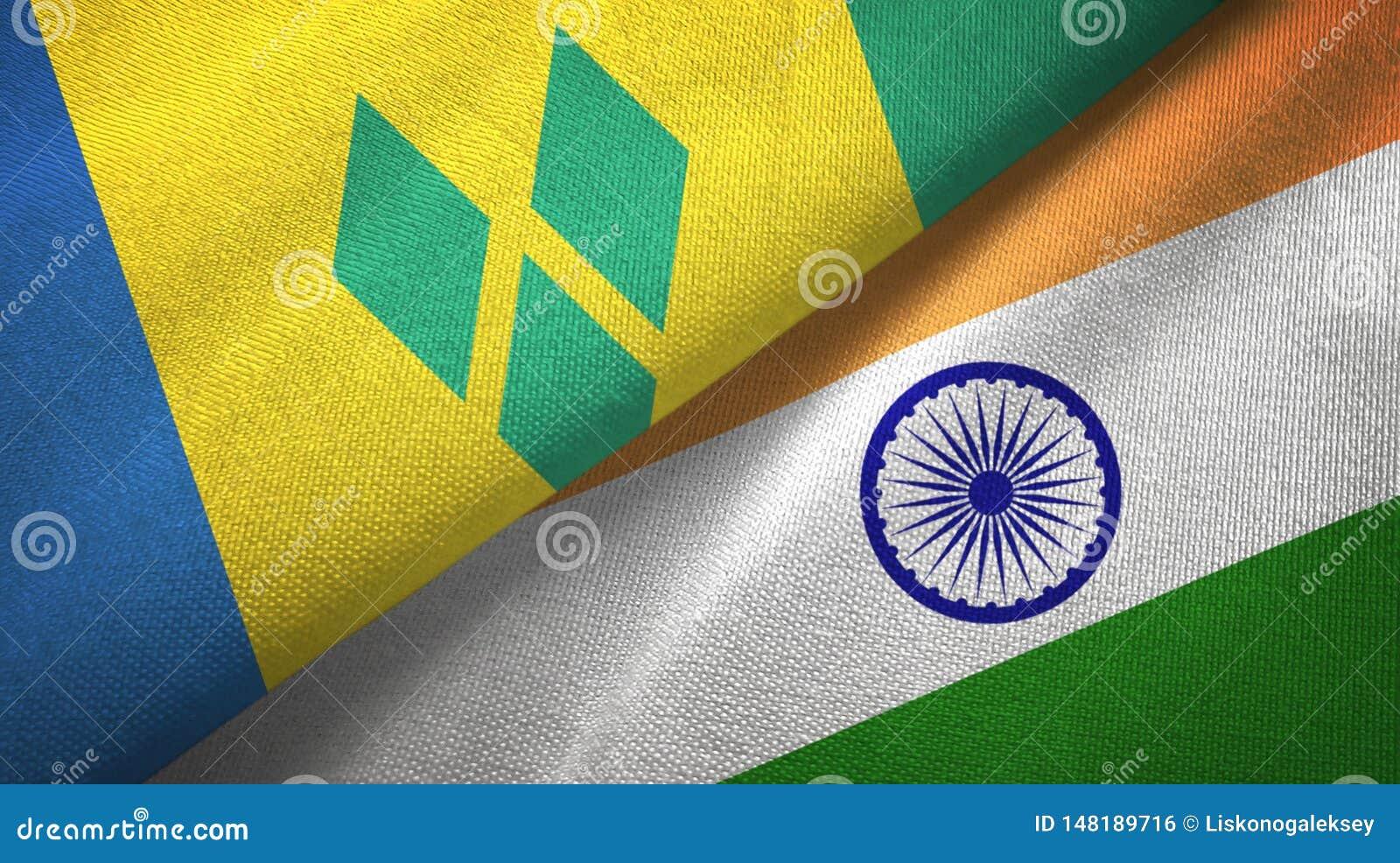 Άγιος Βικέντιος και Γρεναδίνες και Ινδία δύο σημαίες