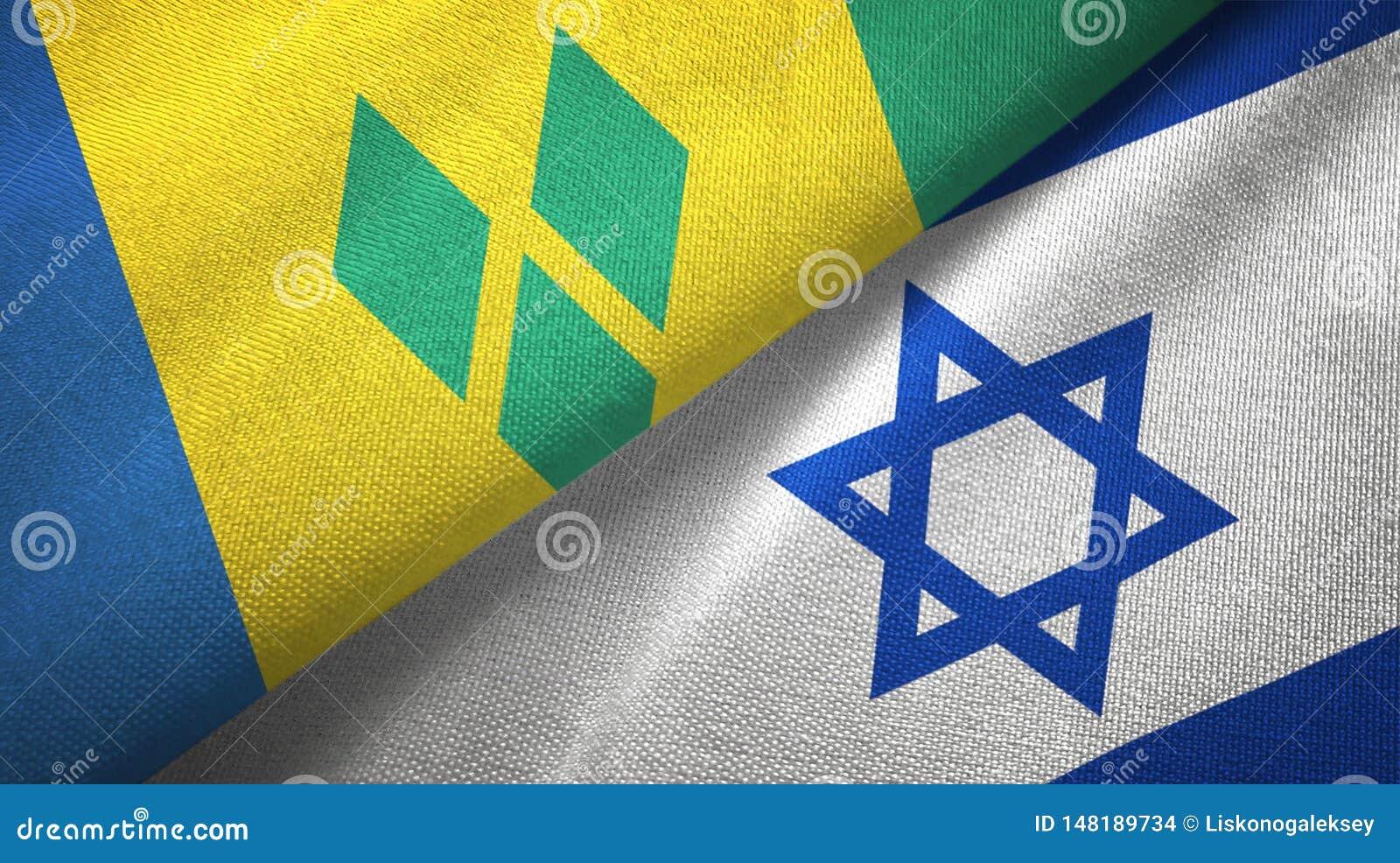 Άγιος Βικέντιος και Γρεναδίνες και Ισραήλ δύο σημαίες