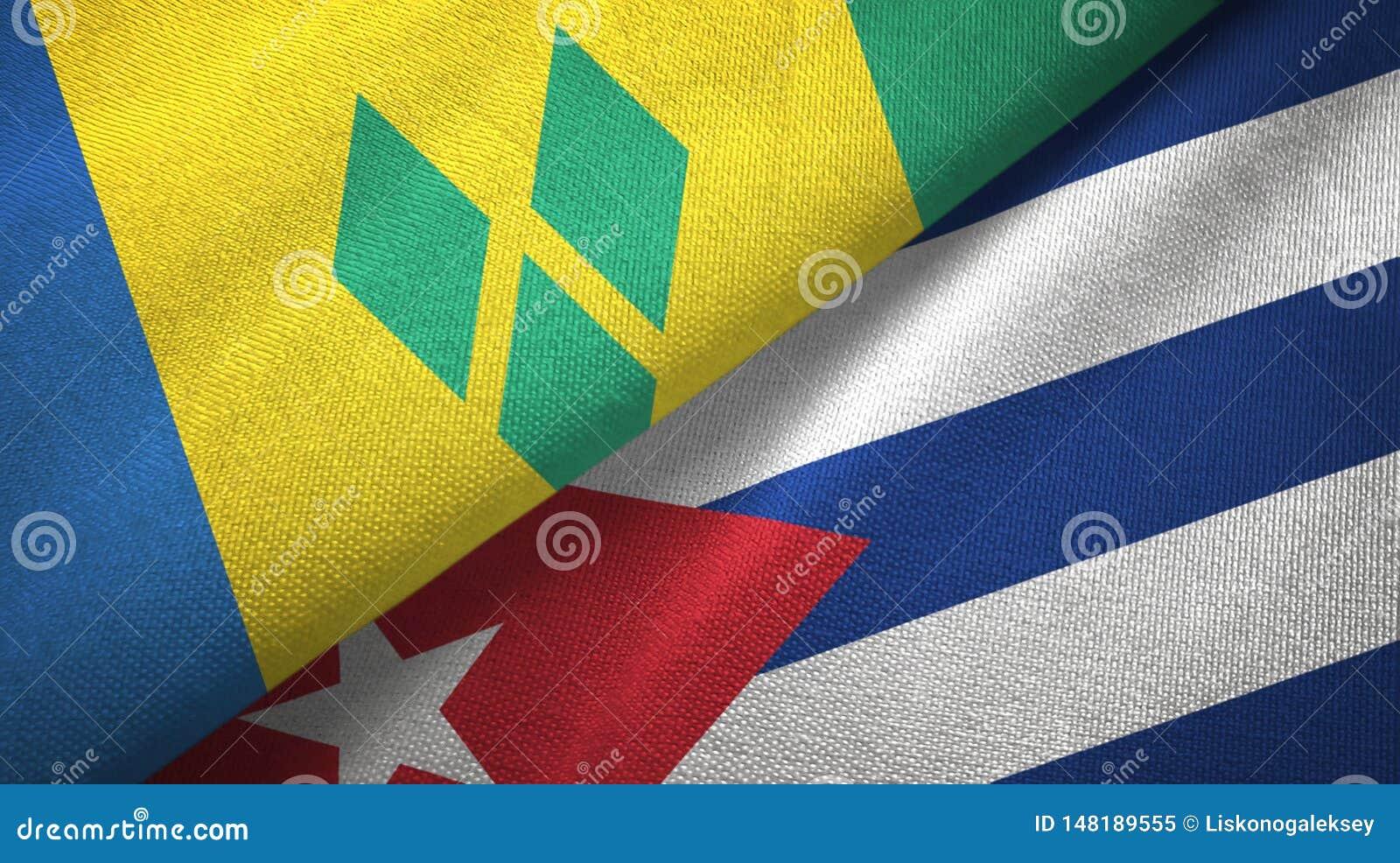 Άγιος Βικέντιος και Γρεναδίνες και Κούβα δύο σημαίες