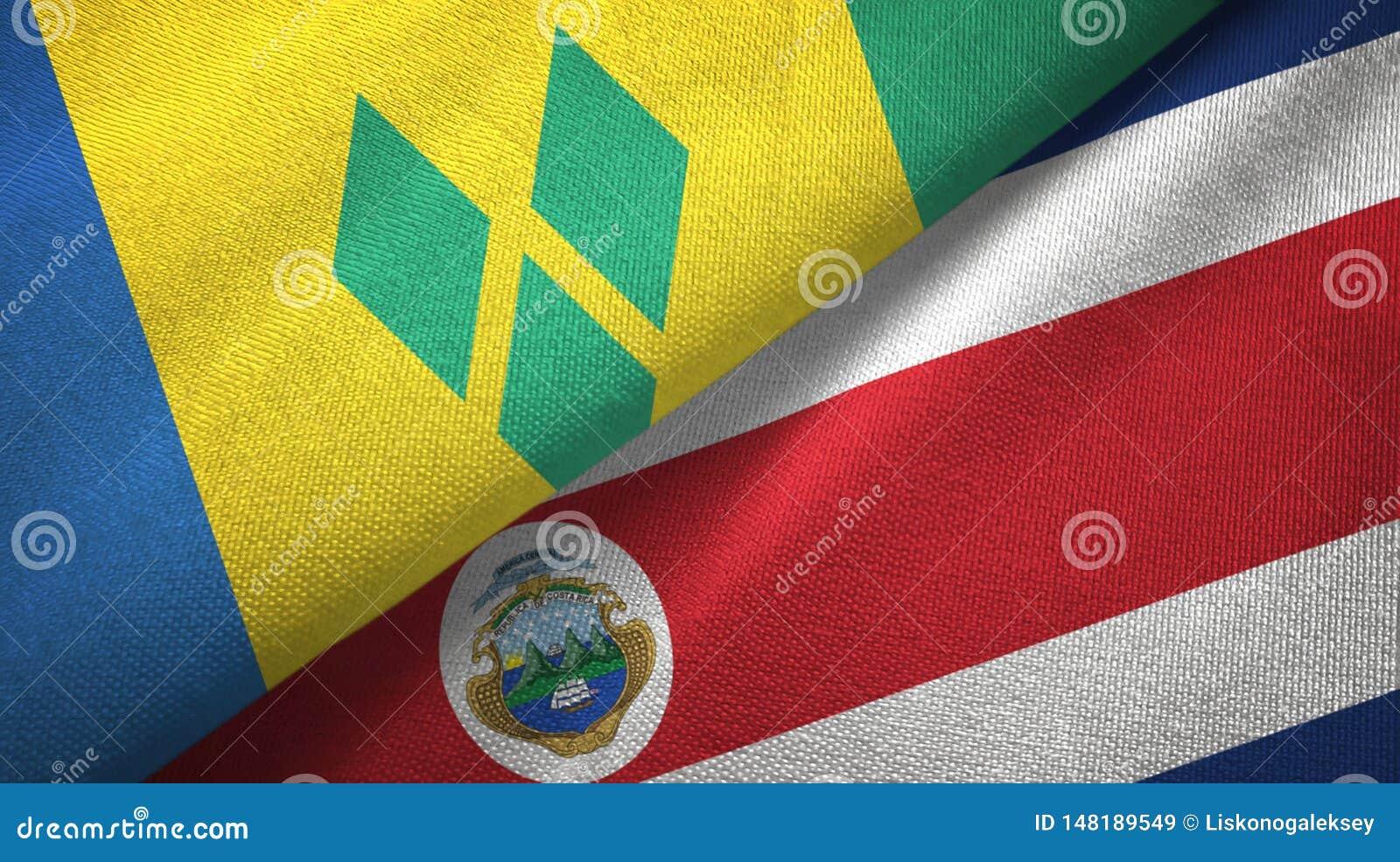 Άγιος Βικέντιος και Γρεναδίνες και Κόστα Ρίκα δύο σημαίες