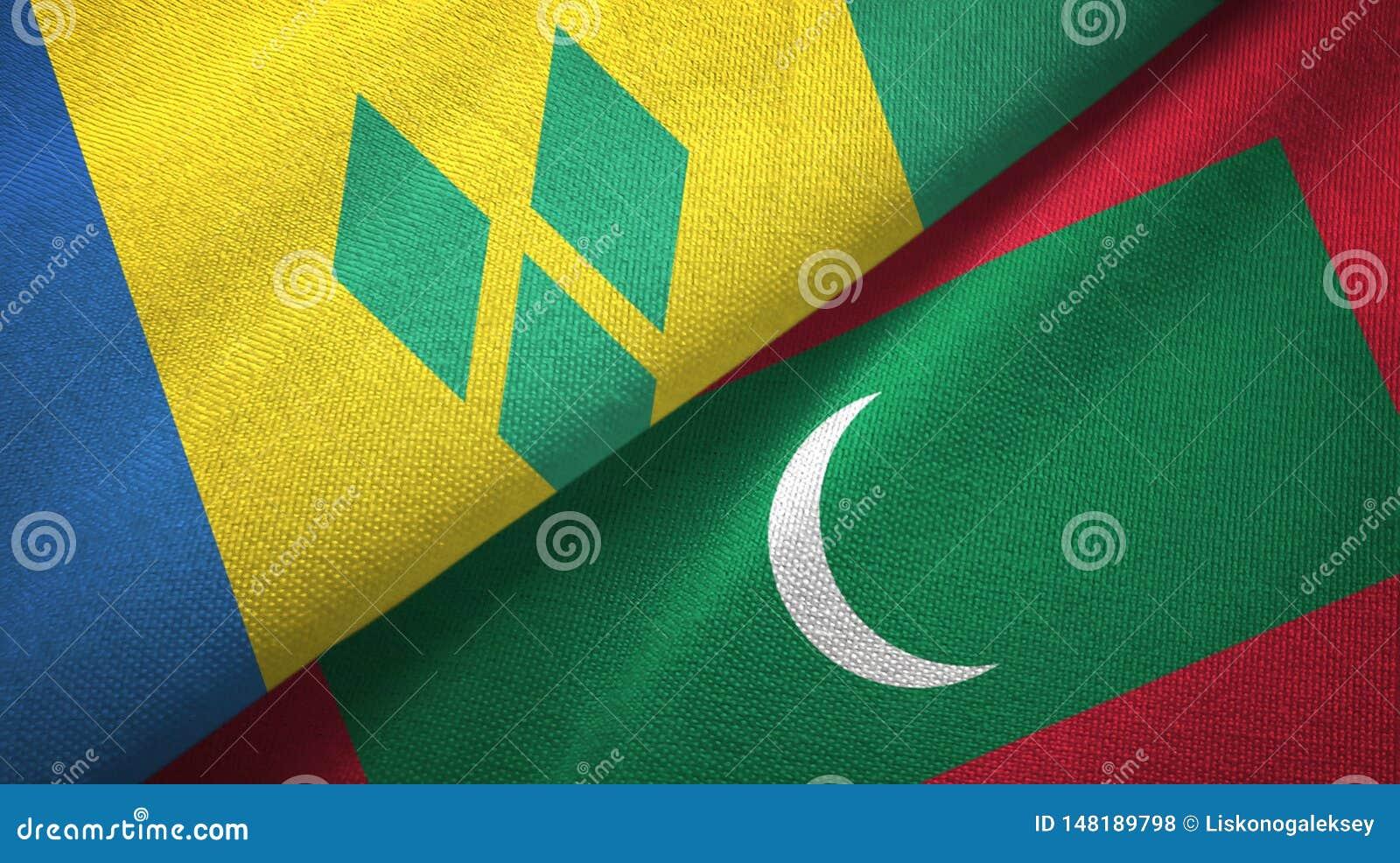 Άγιος Βικέντιος και Γρεναδίνες και Μαλδίβες δύο σημαίες