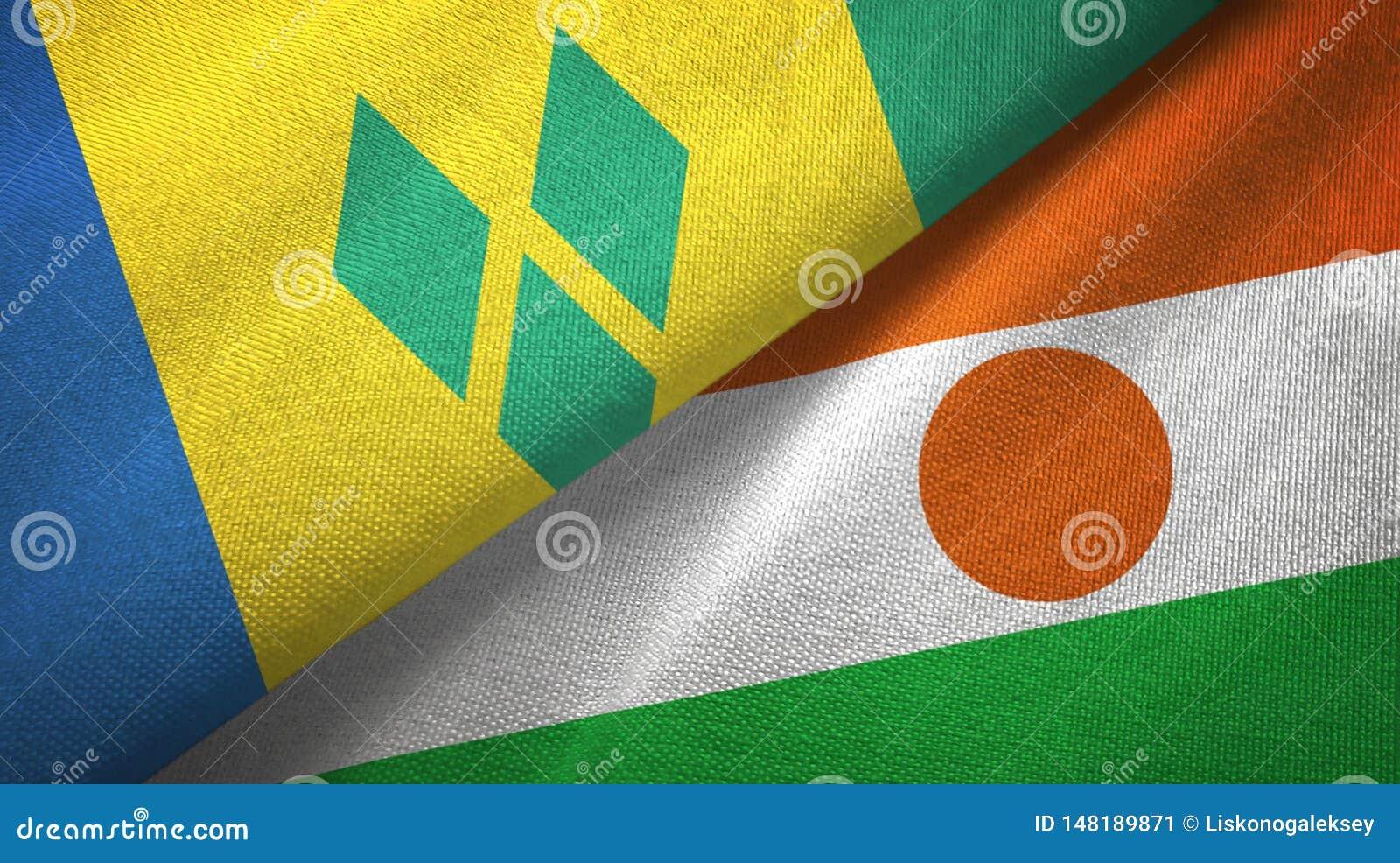 Άγιος Βικέντιος και Γρεναδίνες και Νίγηρας δύο σημαίες