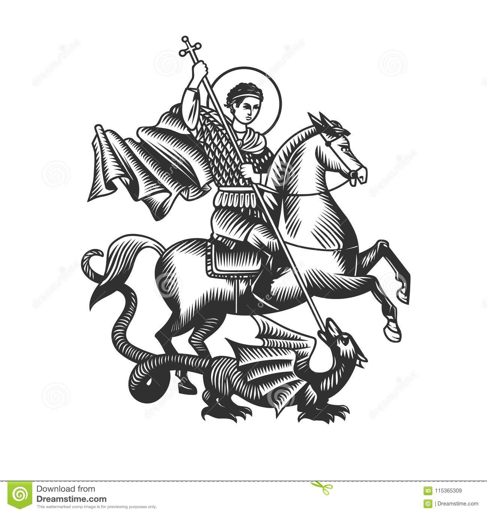 Άγιος George Γραπτά διανυσματικά αντικείμενα