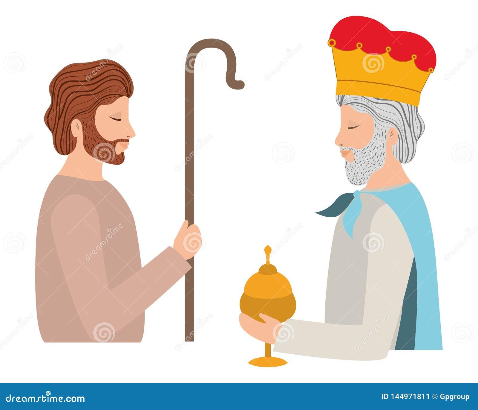 Άγιος Joseph με το σοφό χαρακτήρα βασιλιάδων