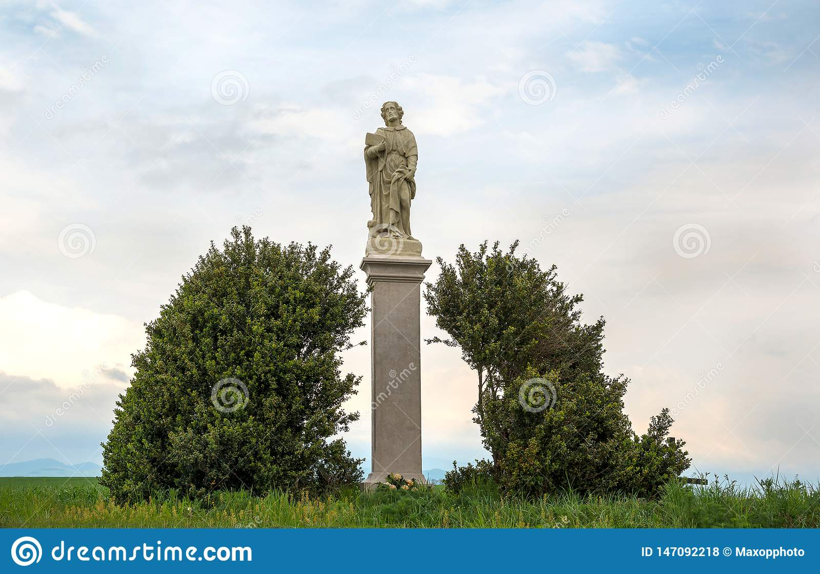 Άγιος Roch ή άγαλμα του Rocco Καθολικός Άγιος ένας ομολογητής