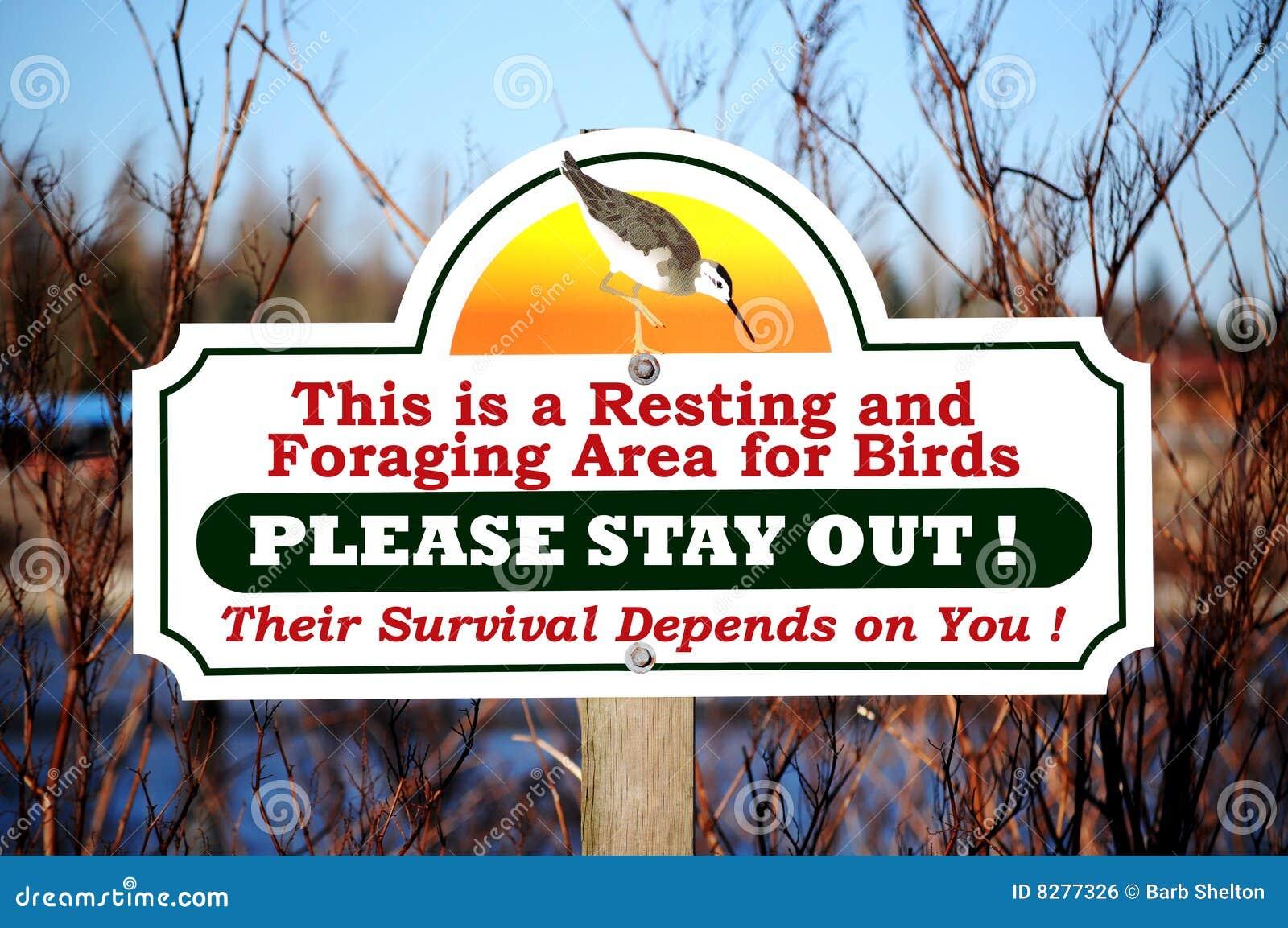 άγρια φύση σημαδιών προστα&sigm
