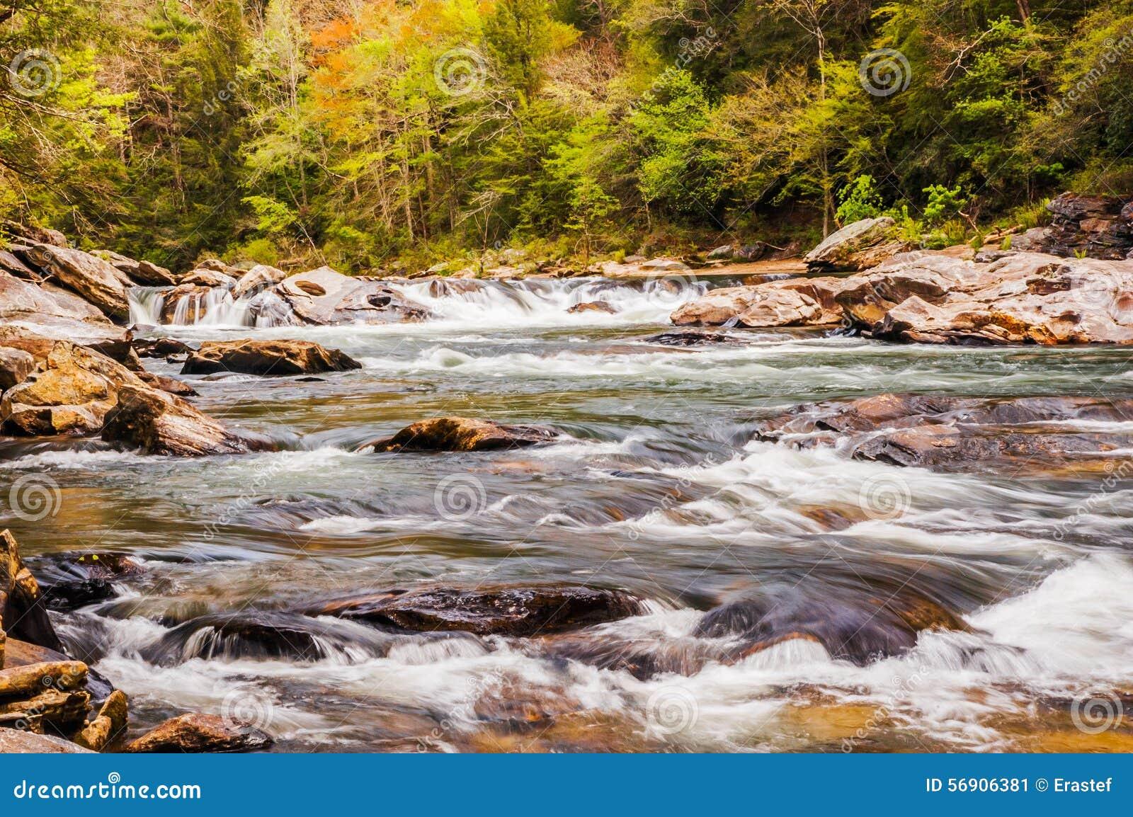 Άγριος και φυσικός ποταμός Chattooga
