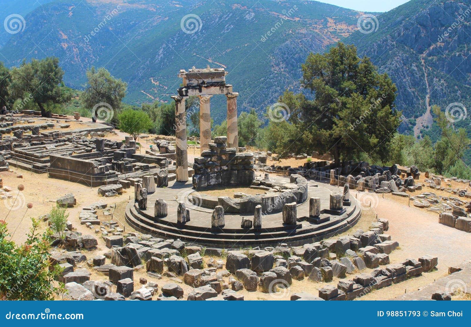Άδυτο Αθηνάς Ναός Αθηνάς Pronaia, Delfi, Αθήνα, Ελλάδα