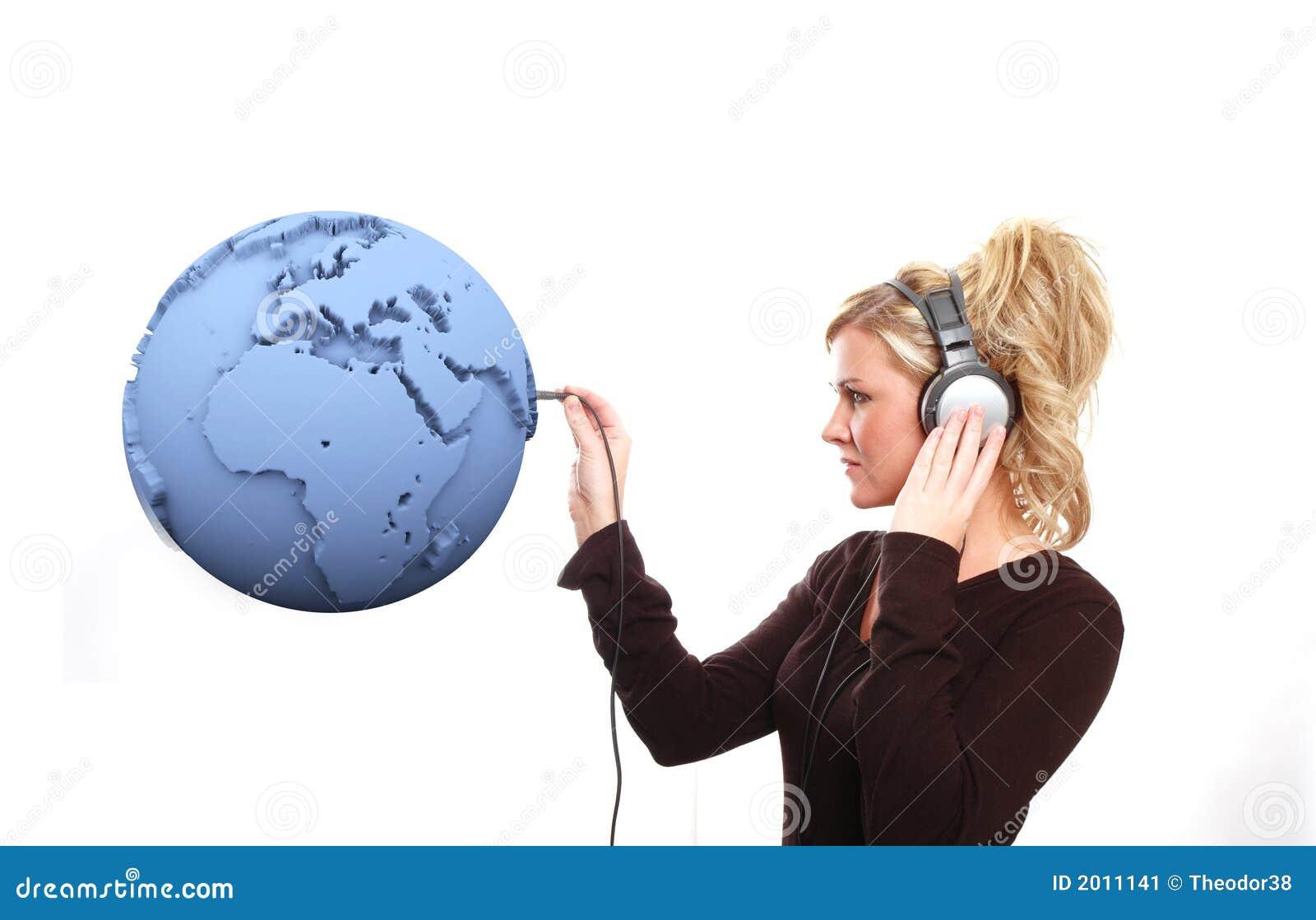 άκουσμα τον κόσμο