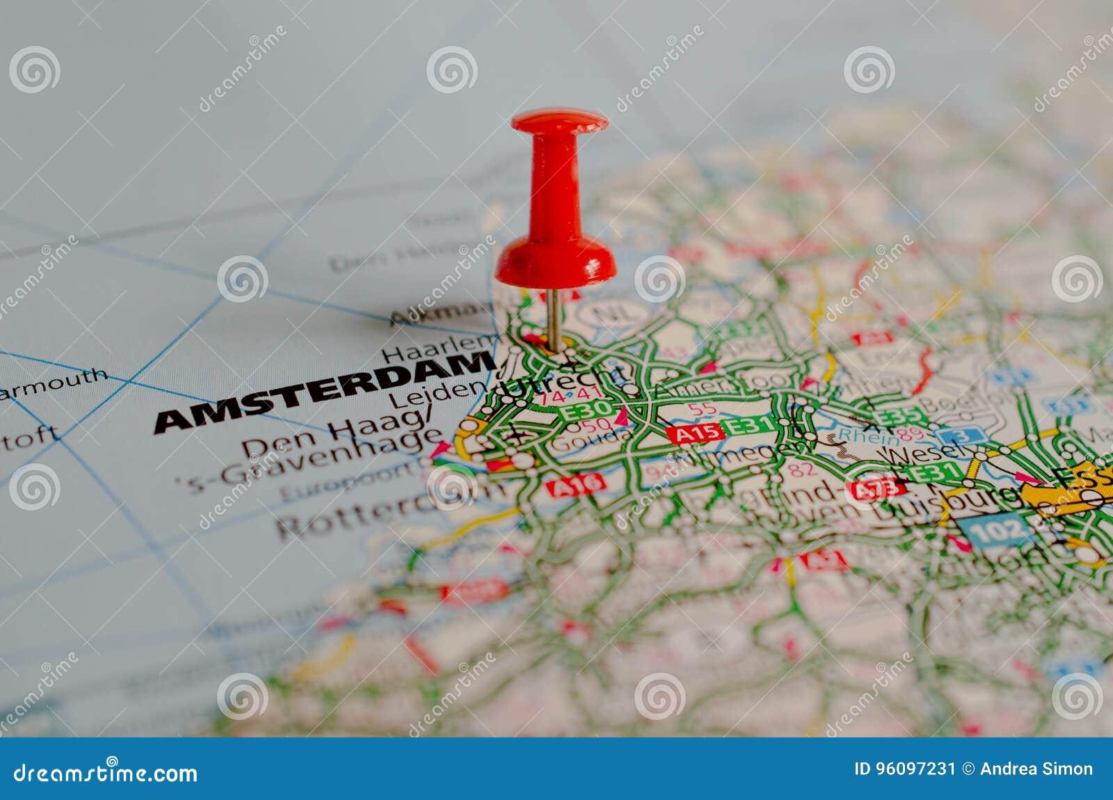 Άμστερνταμ στο χάρτη