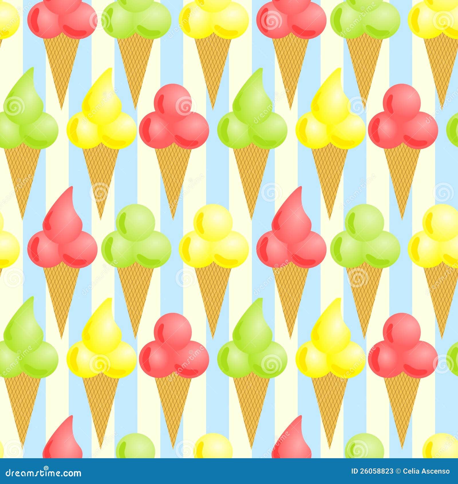 Άνευ ραφής ανασκόπηση κώνων παγωτού