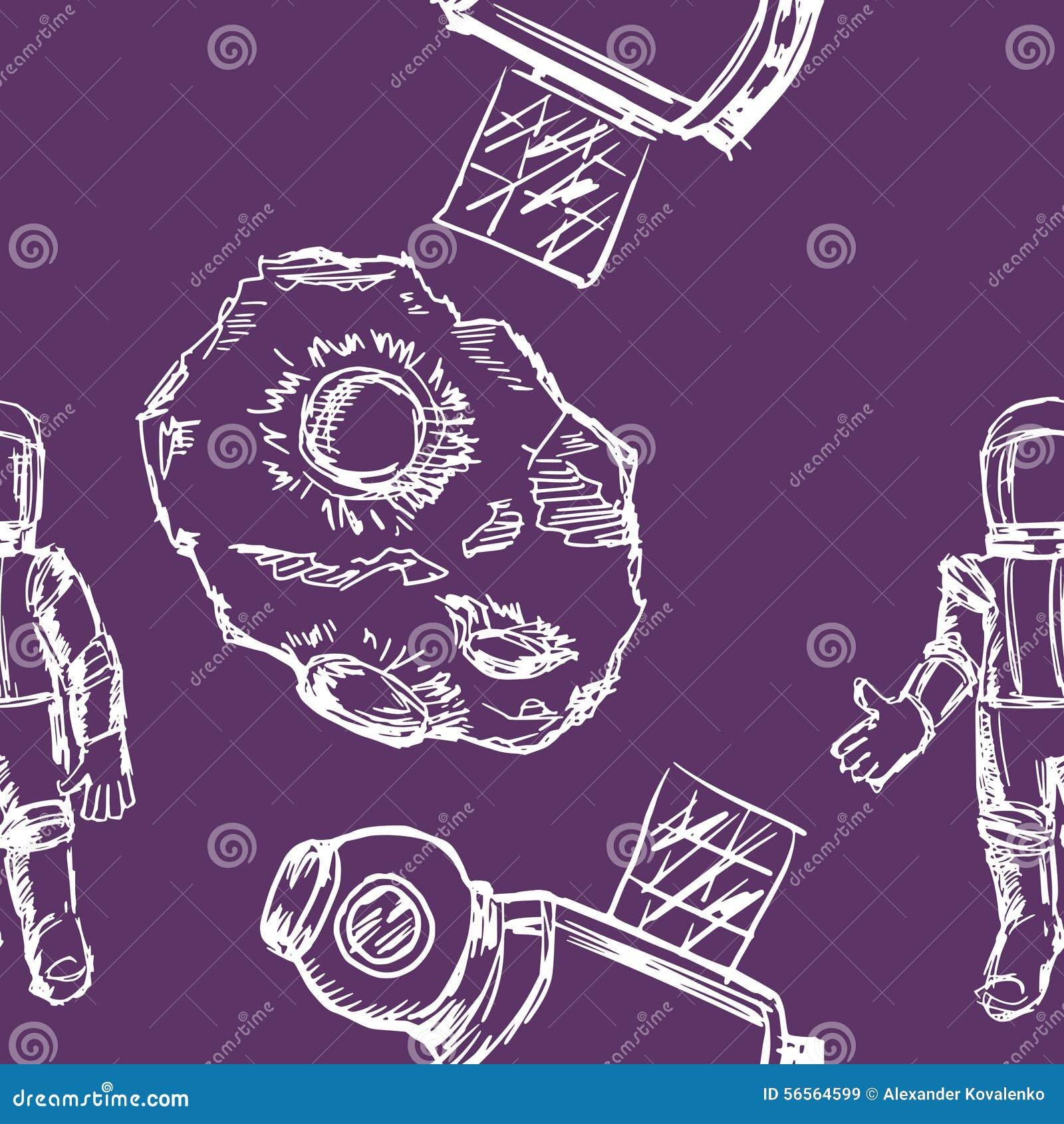 Download Άνευ ραφής ανασκόπηση απεικόνιση αποθεμάτων. εικονογραφία από αστροναυτών - 56564599