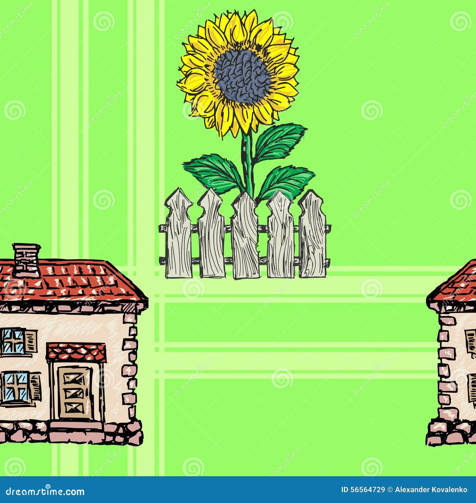 Download Άνευ ραφής ανασκόπηση απεικόνιση αποθεμάτων. εικονογραφία από ηλίανθος - 56564729