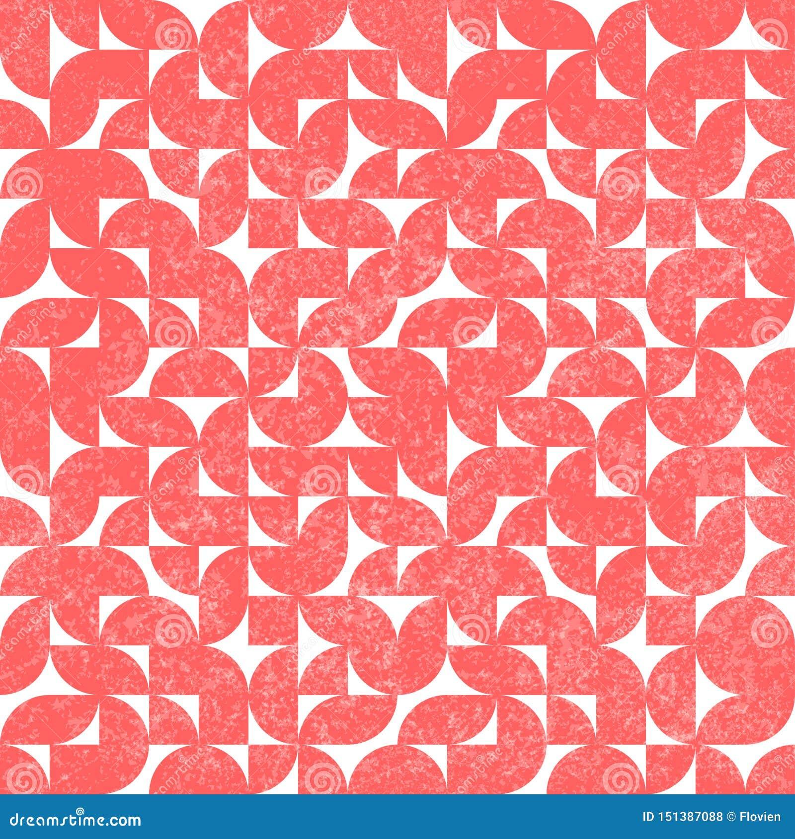 Άνευ ραφής αφηρημένο εκλεκτής ποιότητας σχέδιο Παλαιό κλωστοϋφαντουργικό προϊόν Grunge Χαριτωμένη ρόδινη και άσπρη γεωμετρική τυπ