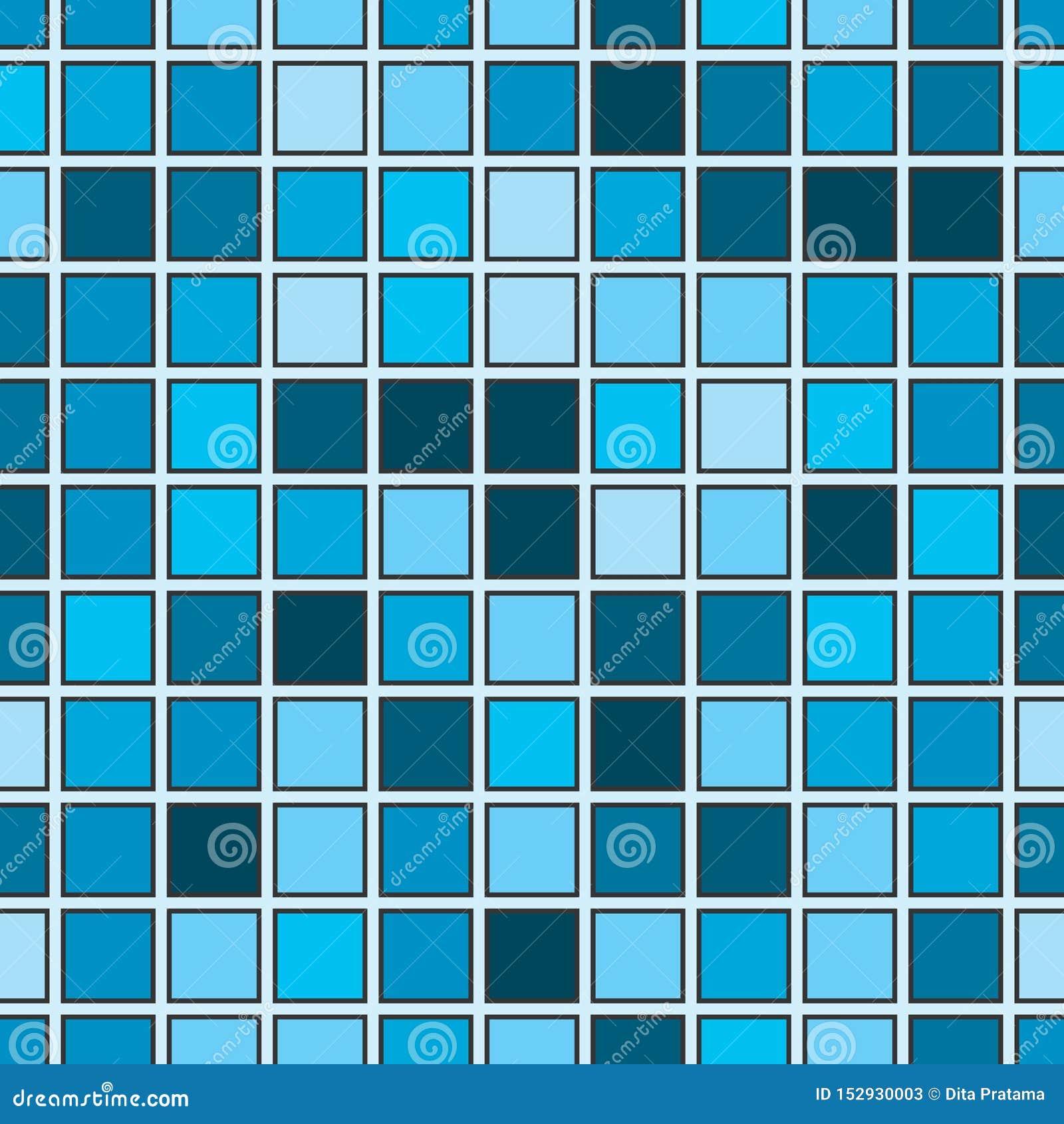 Άνευ ραφής αφηρημένο σχέδιο με την μπλε τετραγωνική μορφή