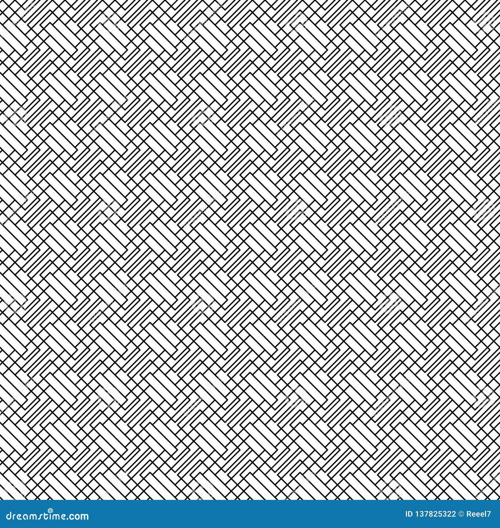 άνευ ραφής διάνυσμα προτύπων Αφηρημένη σύσταση γραμμών Γραπτό υπόβαθρο Μονοχρωματικό σχέδιο