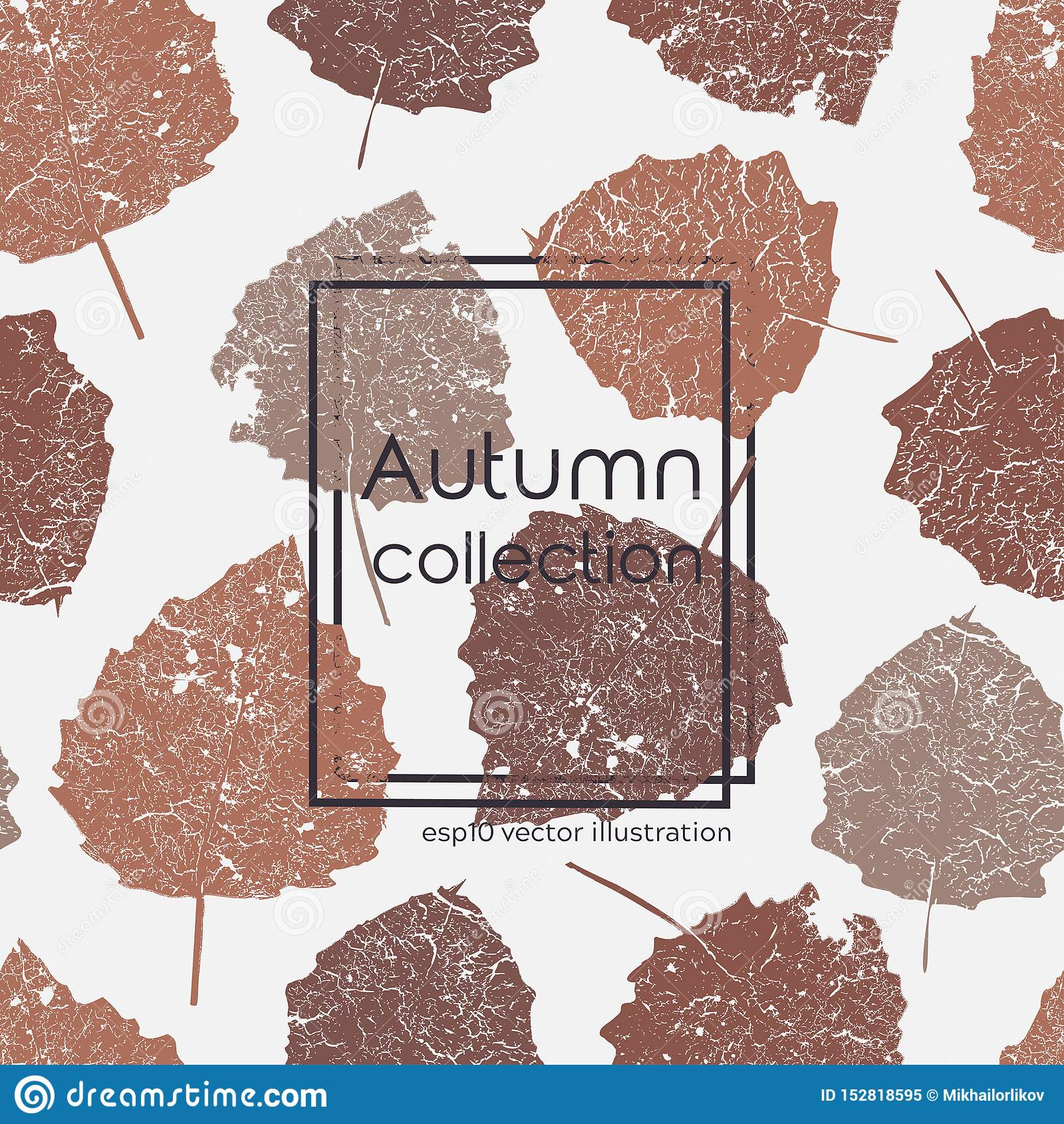 Άνευ ραφής ηλικίας τυπωμένη ύλη φύλλων φθινοπώρου Διανυσματική έγχρωμη εικονογράφηση στο ελαφρύ υπόβαθρο Αρχικό floral σχέδιο