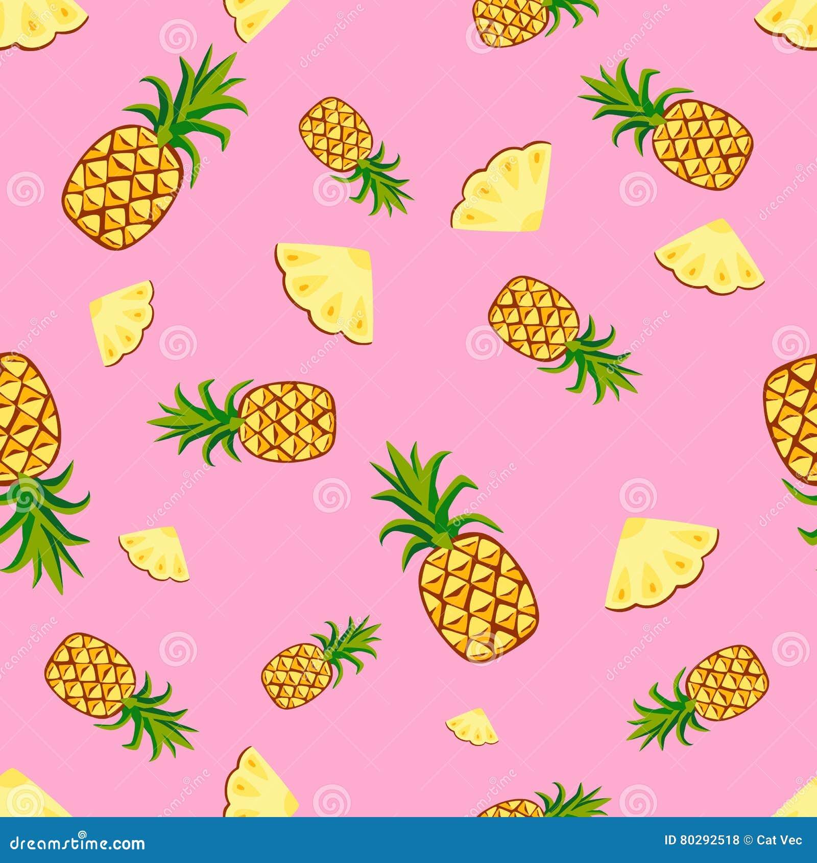 Άνευ ραφής διάνυσμα σχεδίων ανανά φρούτων