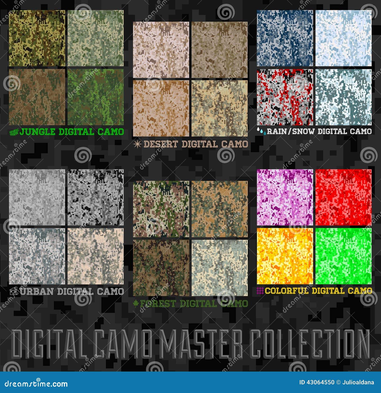 Άνευ ραφής διανυσματική ψηφιακή συλλογή κάλυψης εικονοκυττάρου