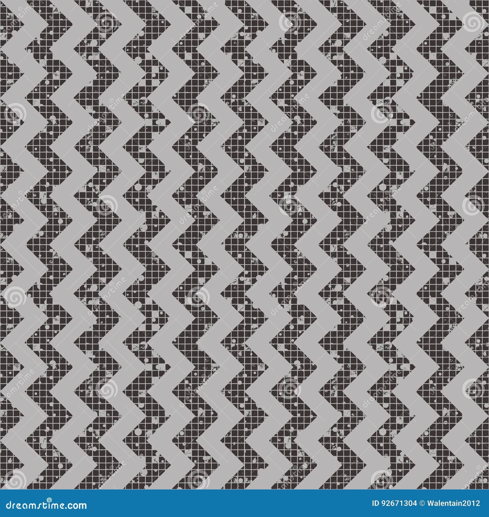 Άνευ ραφής διανυσματικό ριγωτό σχέδιο γεωμετρικό υπόβαθρο με το τρέκλισμα Σύσταση Grunge με την τριβή, ρωγμές και αμβροσία Παλαιό