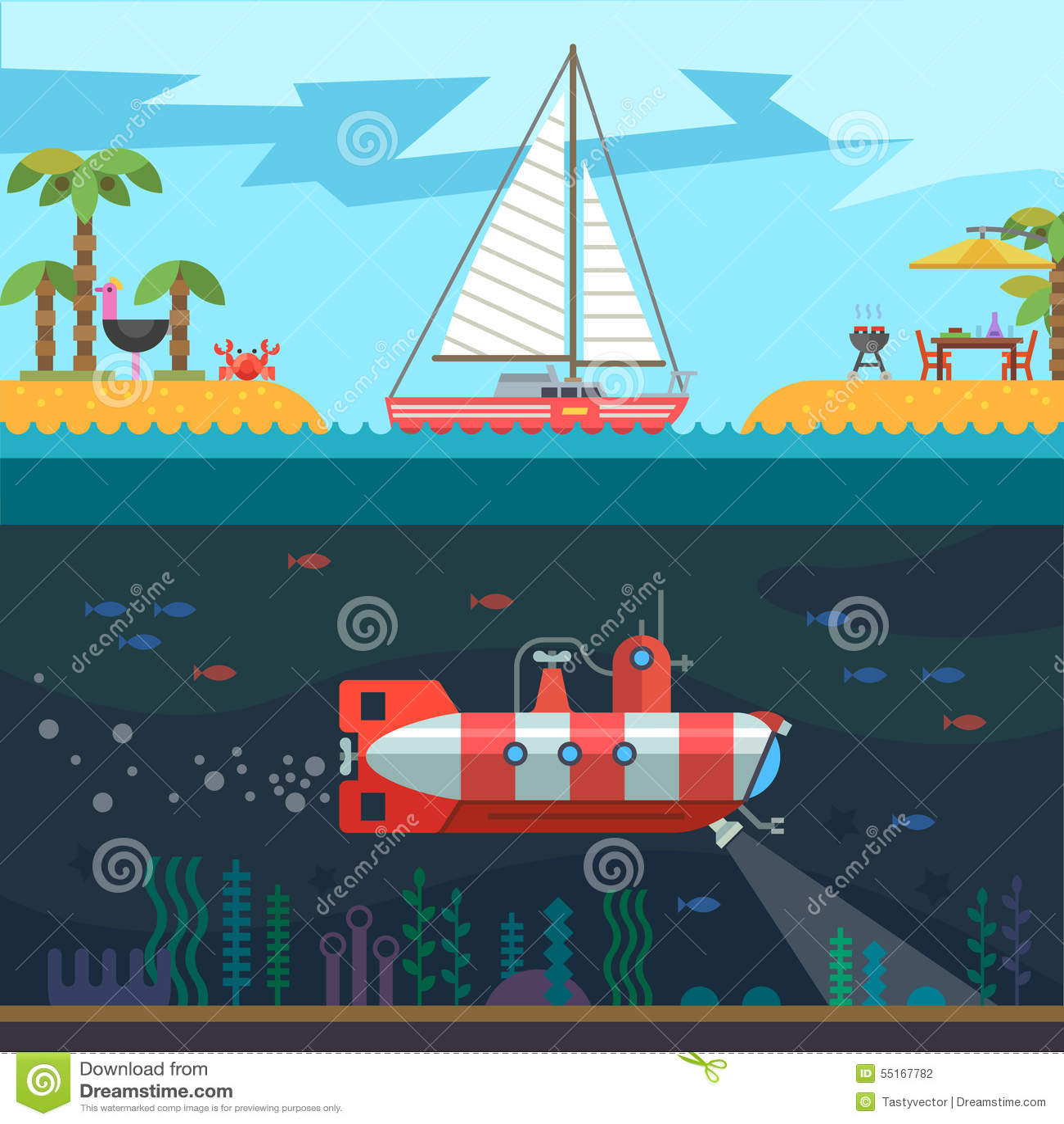 άνευ ραφής καλοκαίρι θάλασσας υπολοίπου ταξιδιών
