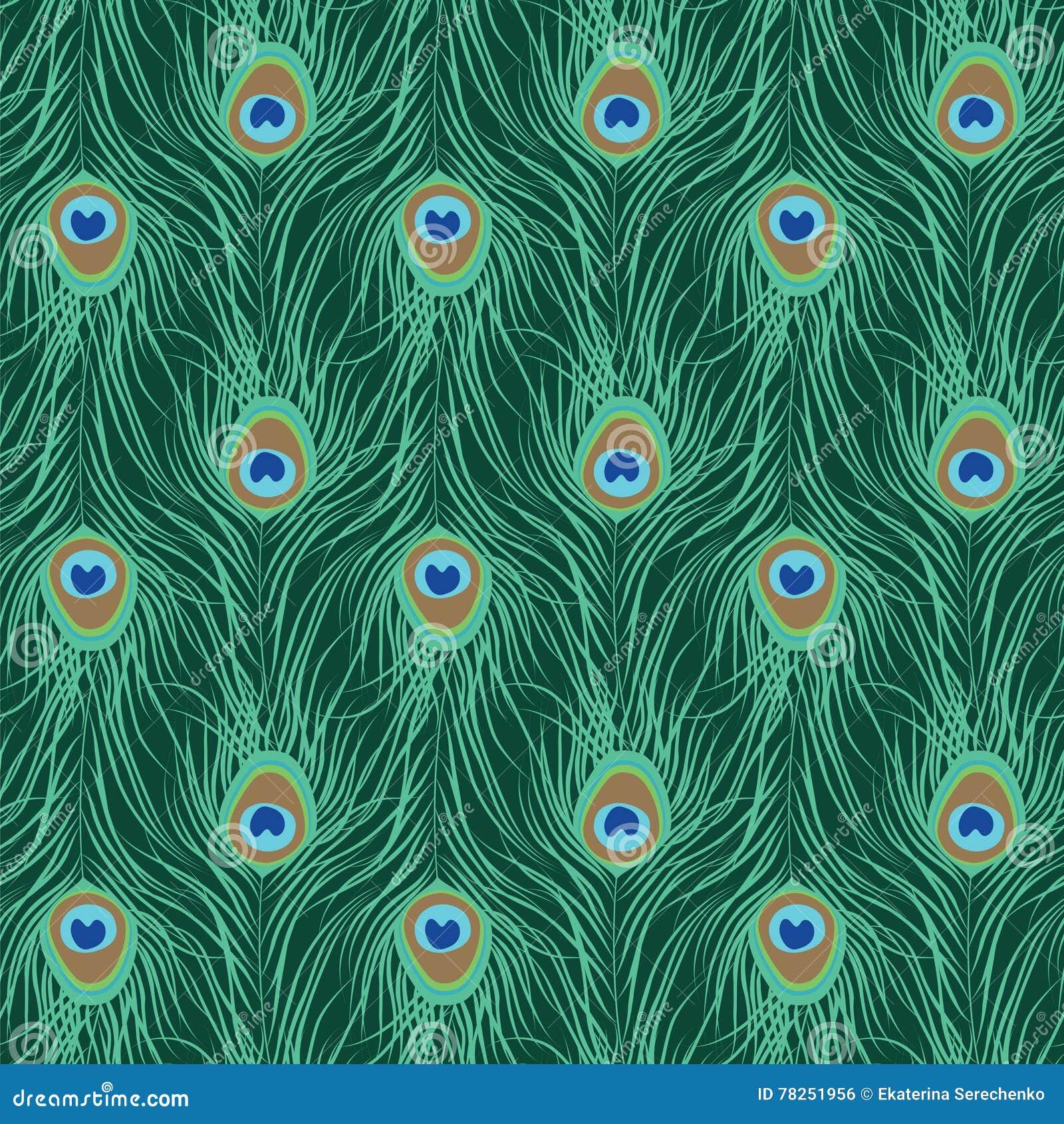 Άνευ ραφής πρότυπο φτερών Peacock