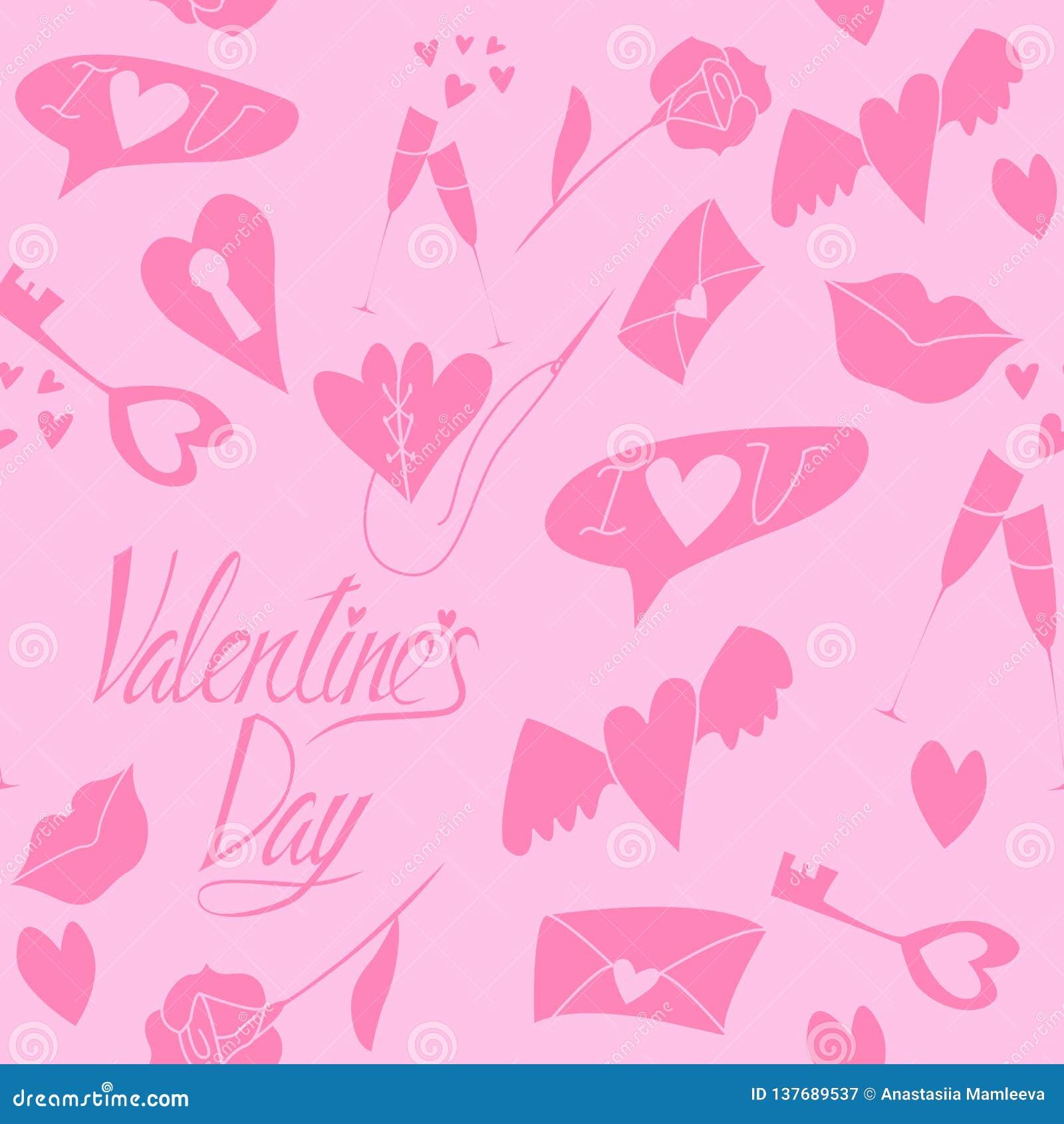 Άνευ ραφής σχέδιο αγάπης στην ημέρα του βαλεντίνου