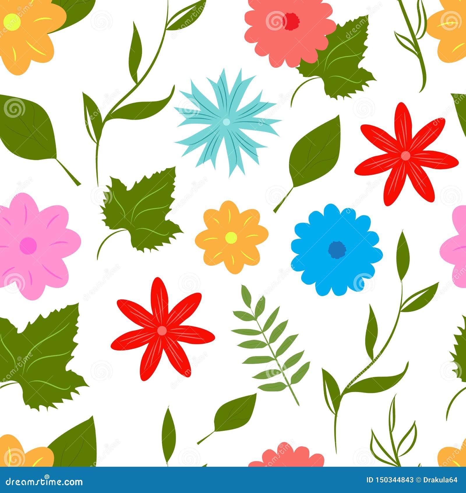 Άνευ ραφής σχέδιο λουλουδιών θερινής διασκέδασης