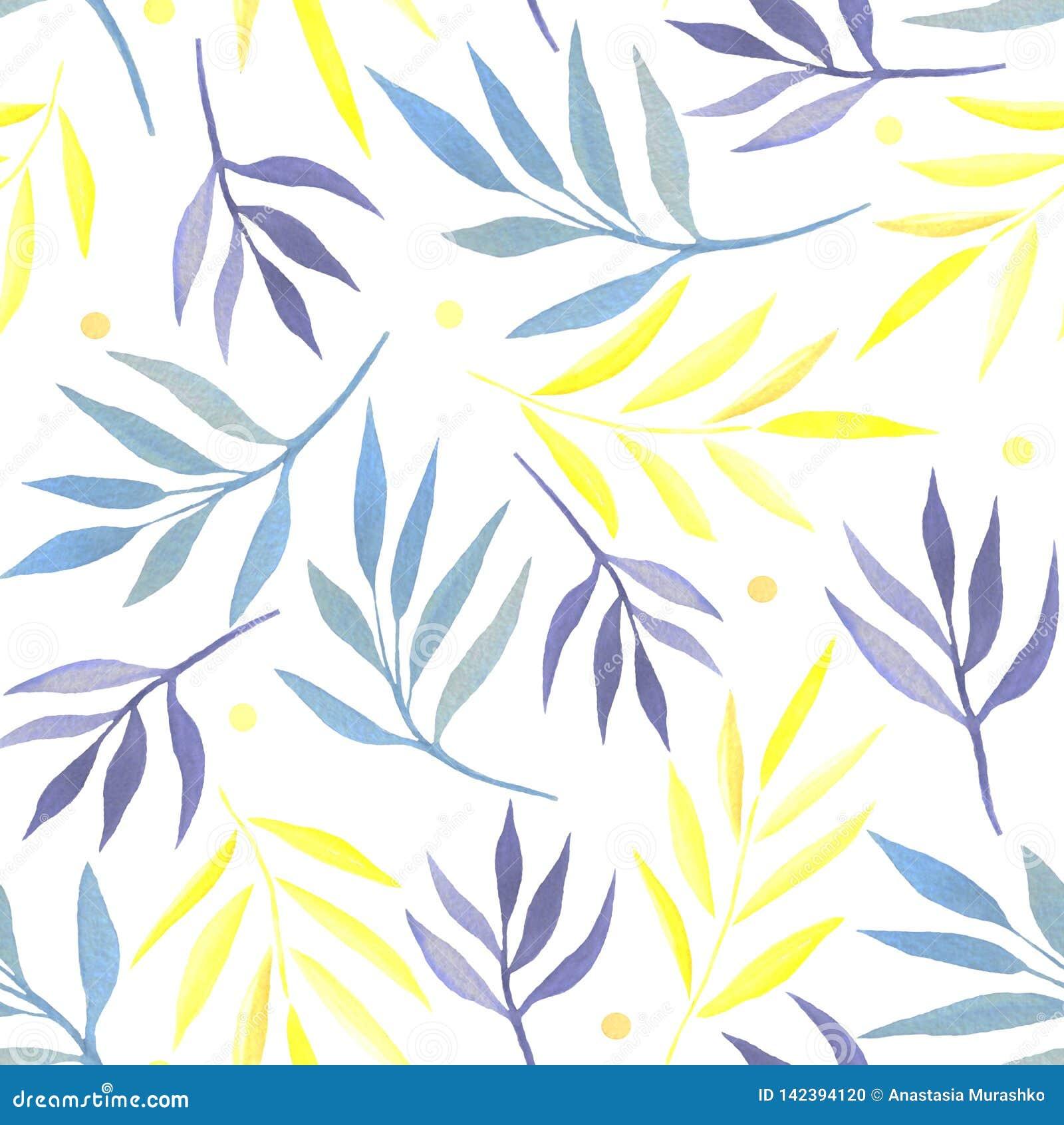 Άνευ ραφής σχέδιο με τους κλάδους watercolor