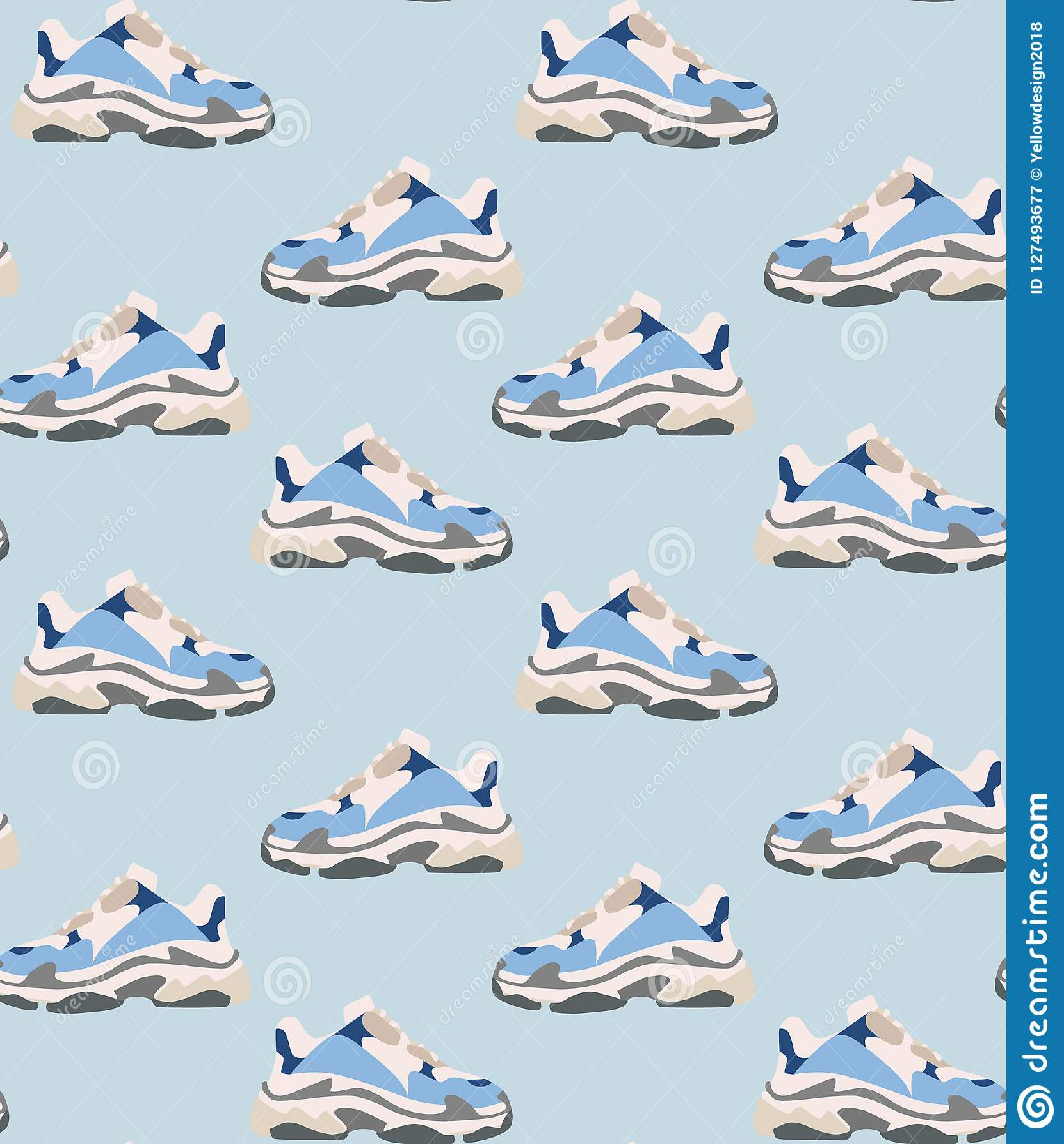 ddd09ce2e49 Άνευ ραφής σχέδιο παπουτσιών πάνινων παπουτσιών Μόδα έννοιας Επίπεδο ...