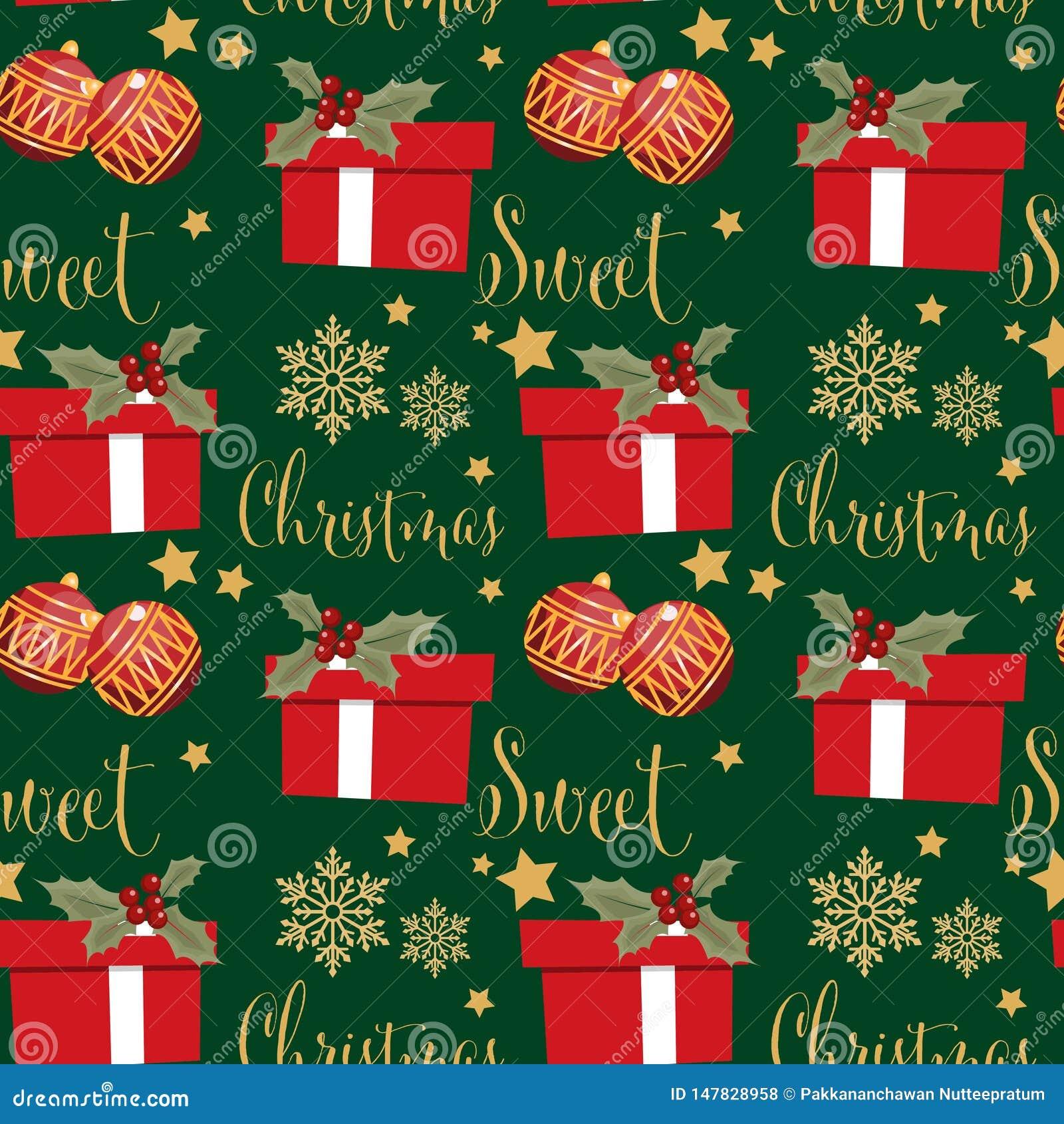 Άνευ ραφής σχέδιο περιόδου διακοπών Χριστουγέννων με Άγιο Βασίλη με τη νιφάδα χιονιού, το χιονάνθρωπο, τα μούρα ελαιόπρινου και τ